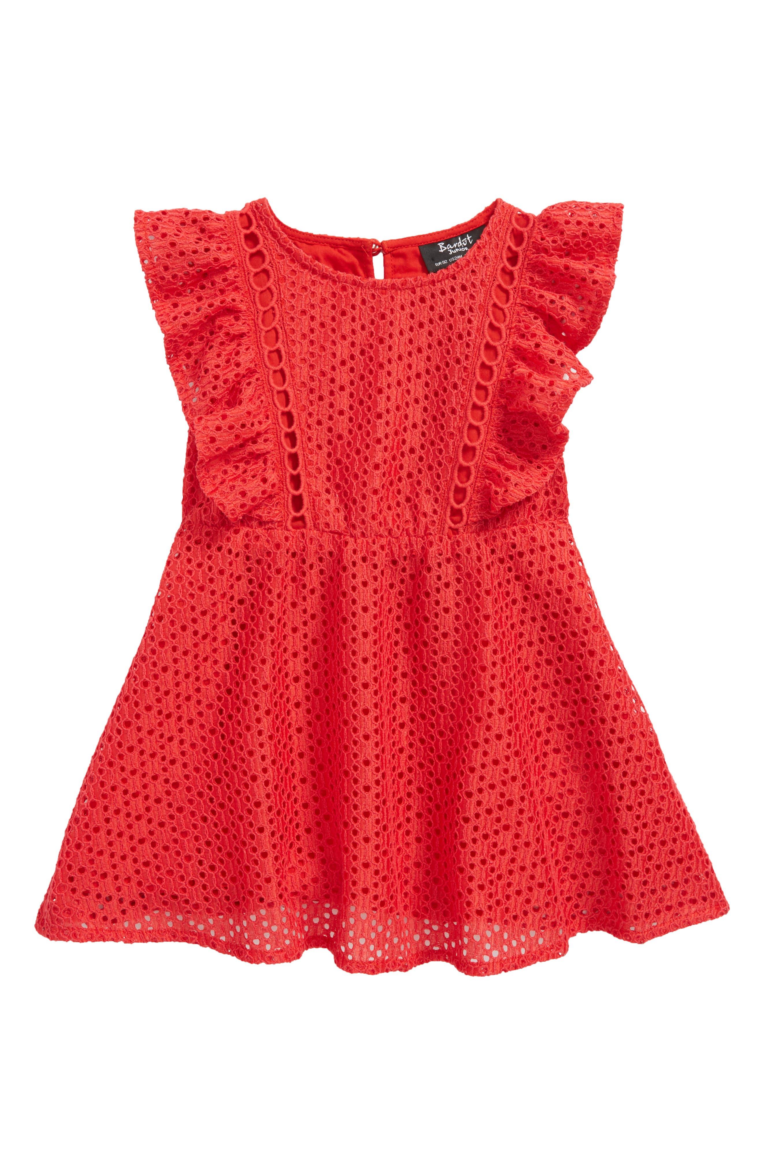 Bardot Tilly Eyelet Dress (Baby Girls)