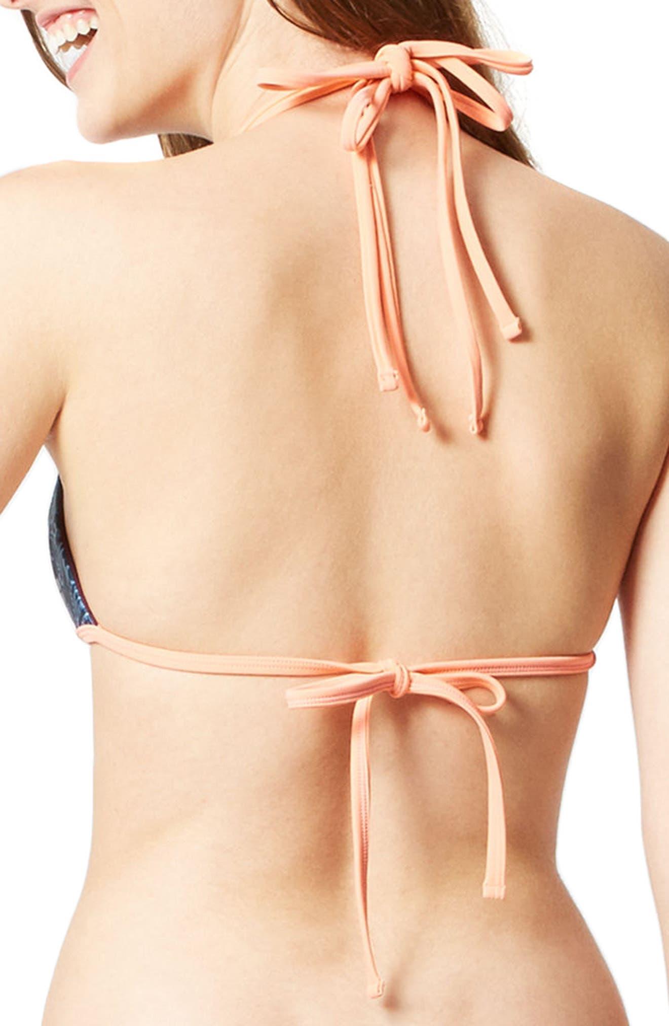 Purity Reversible Bikini Top,                             Alternate thumbnail 3, color,                             Printed/ Oxblood