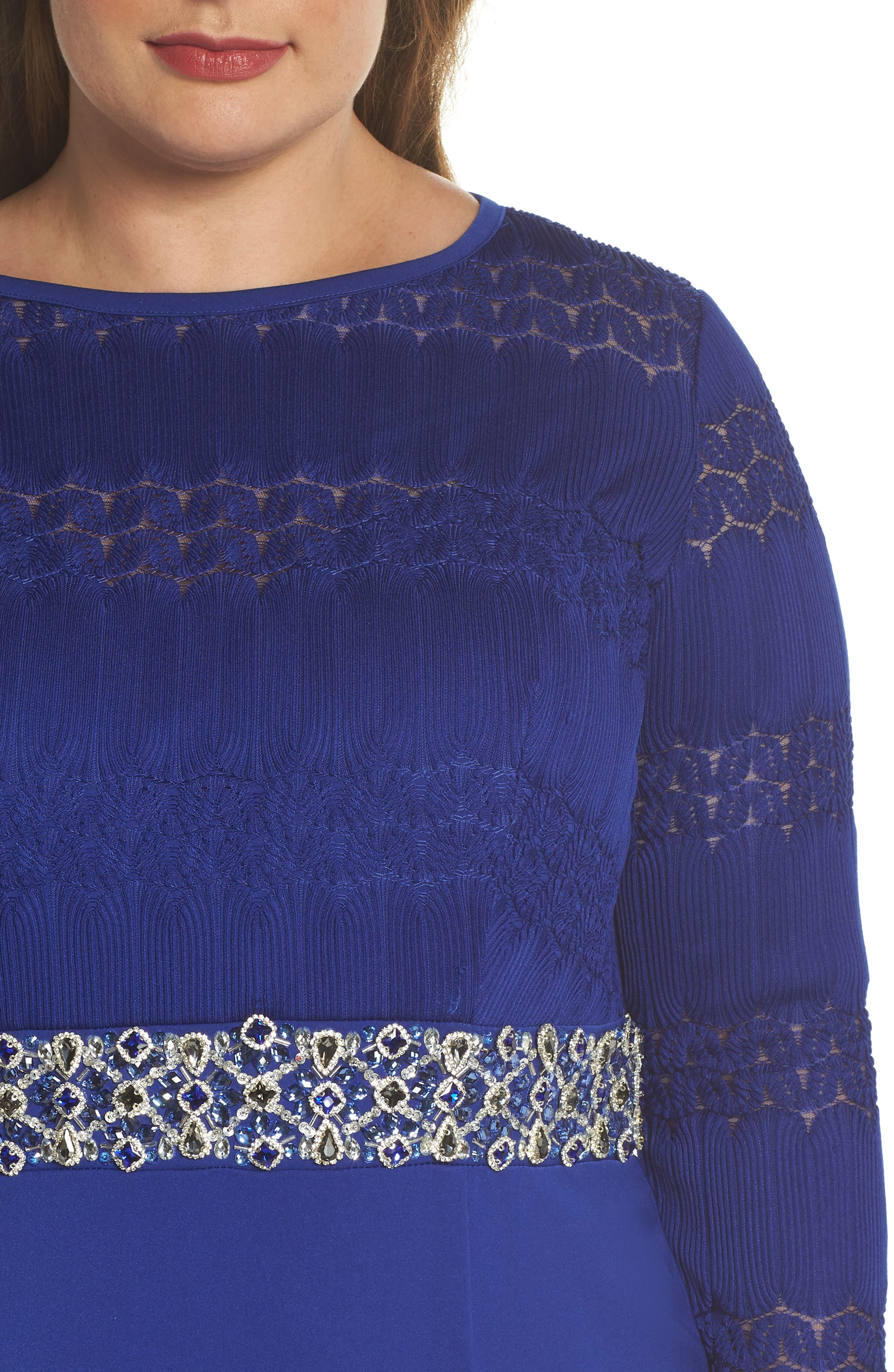 Embellished Gown,                             Alternate thumbnail 4, color,                             Royal