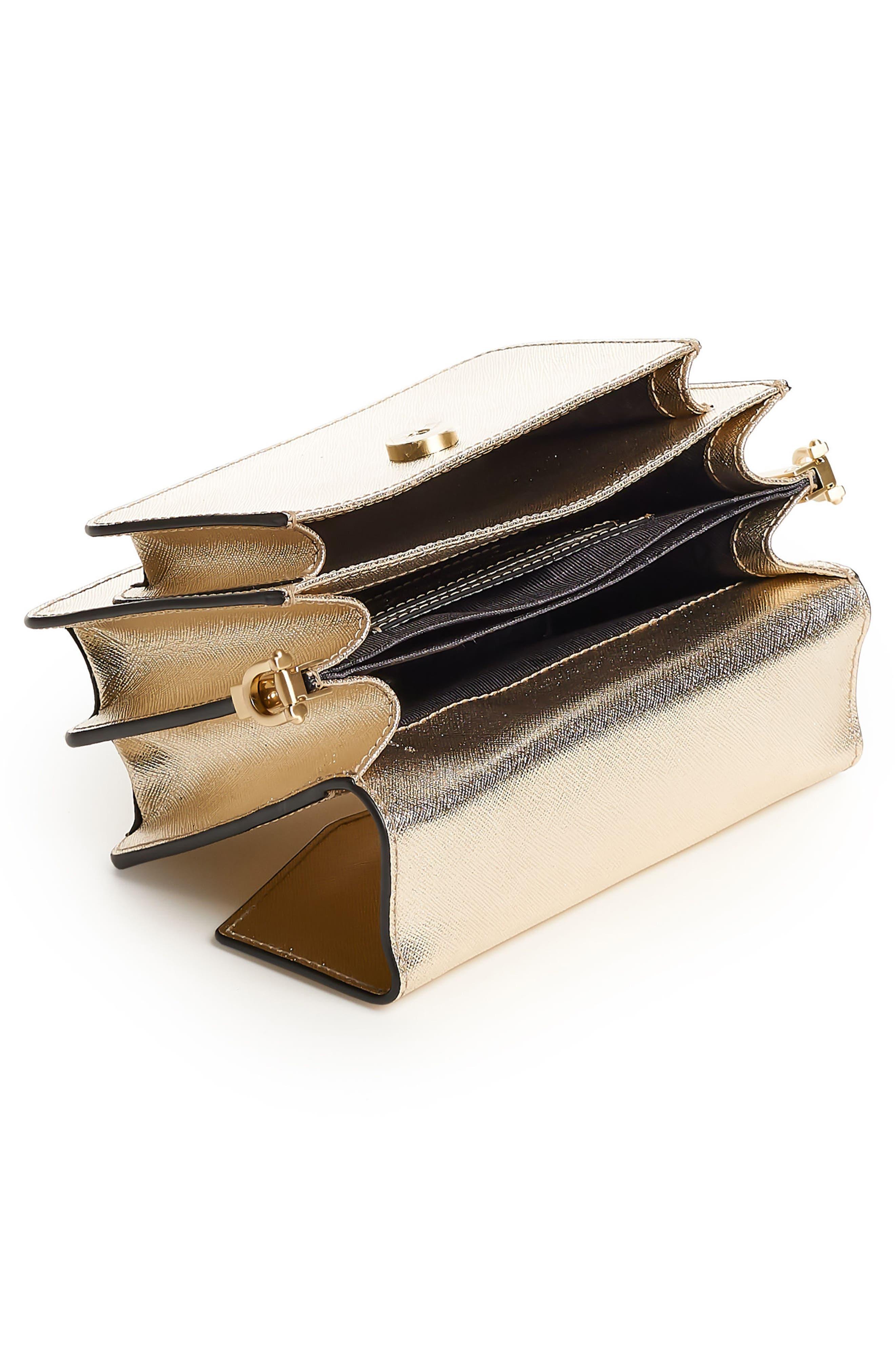 Mini Cobble Hill Calfskin Leather Crossbody Bag,                             Alternate thumbnail 2, color,                             Gold