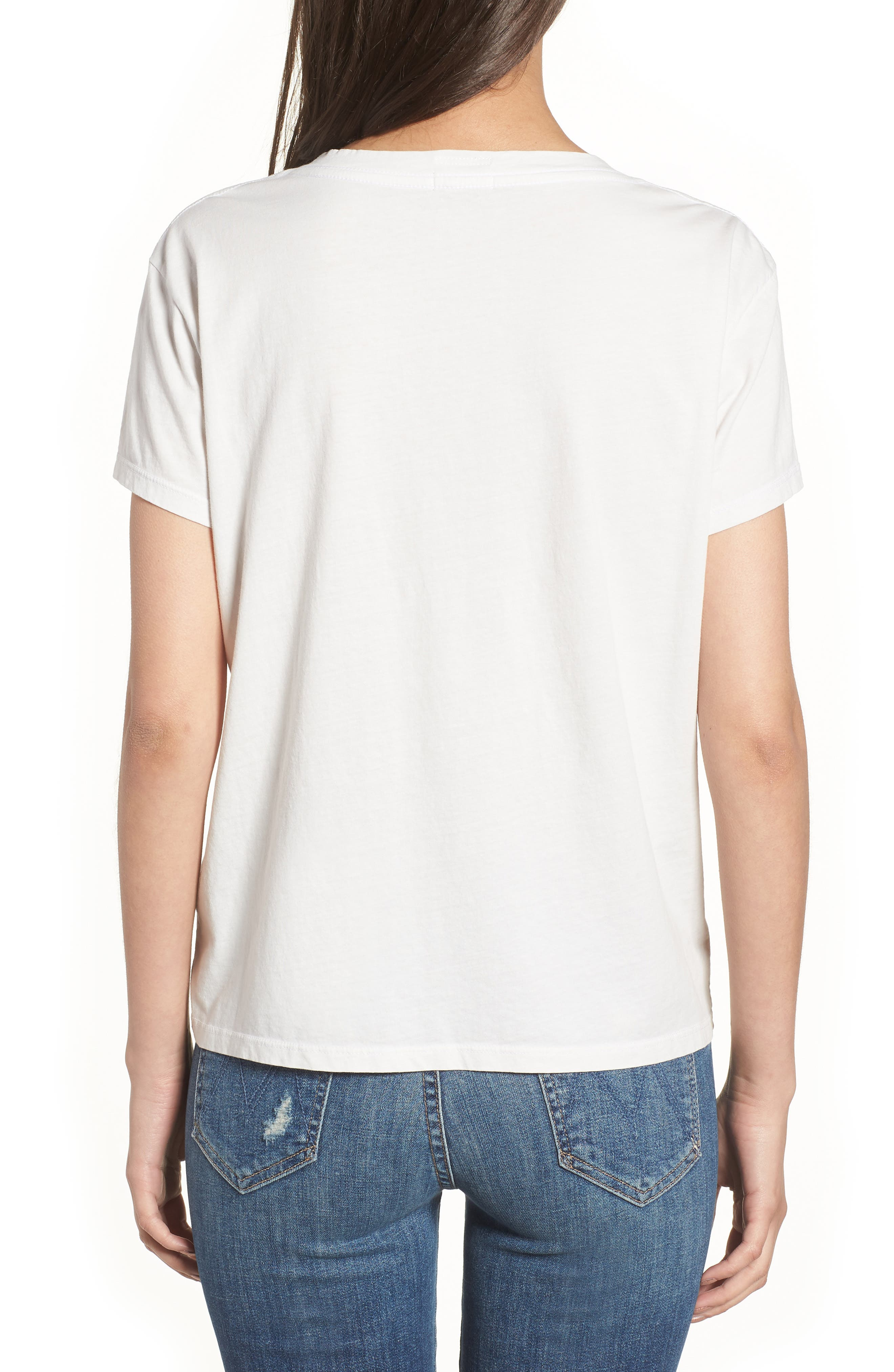 The Boxy Goodie Goodie Supima<sup>®</sup> Cotton Tee,                             Alternate thumbnail 2, color,                             Dirty White