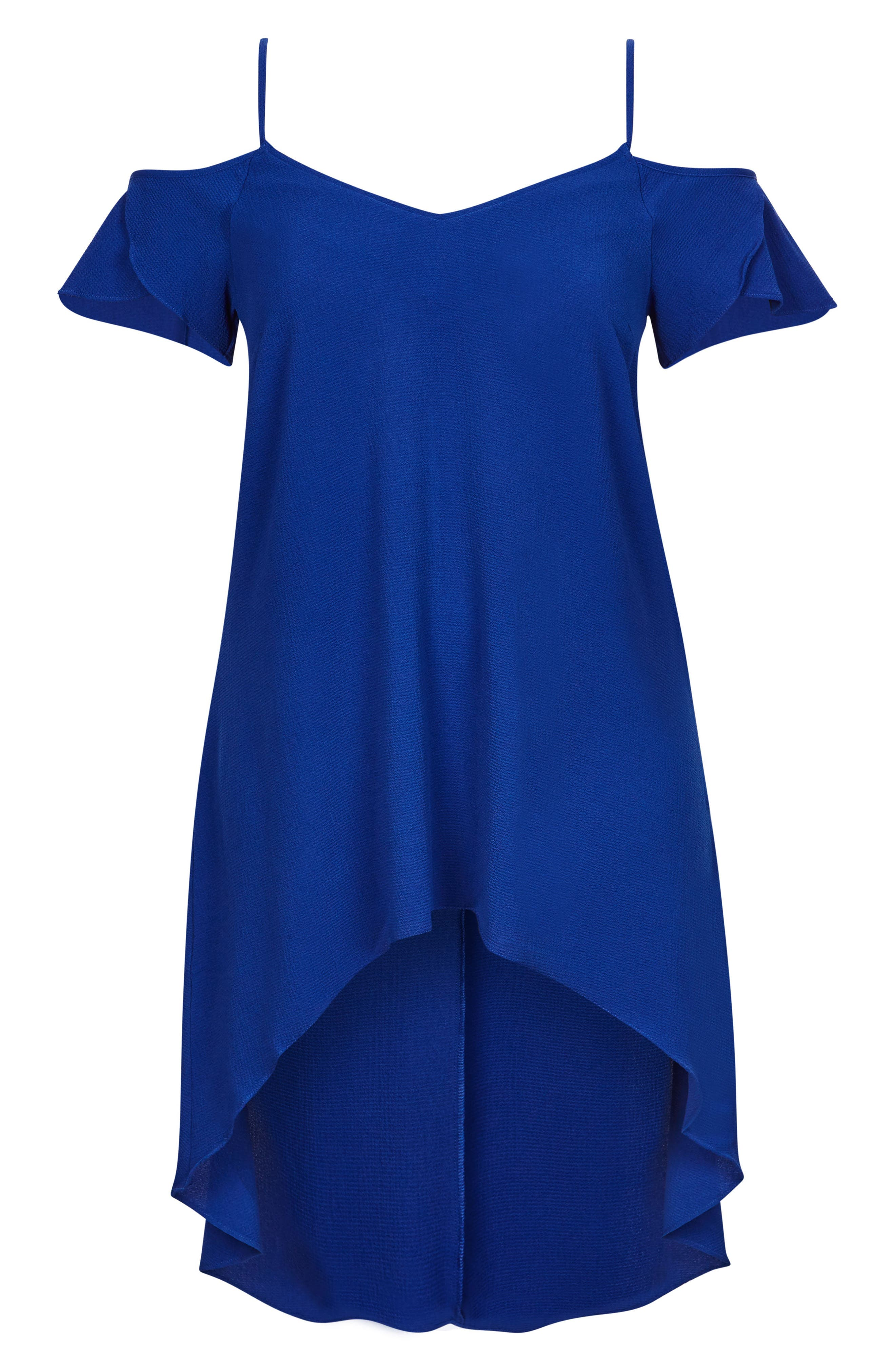Charmer Off Shoulder High/Low Top,                             Alternate thumbnail 3, color,                             Lapis