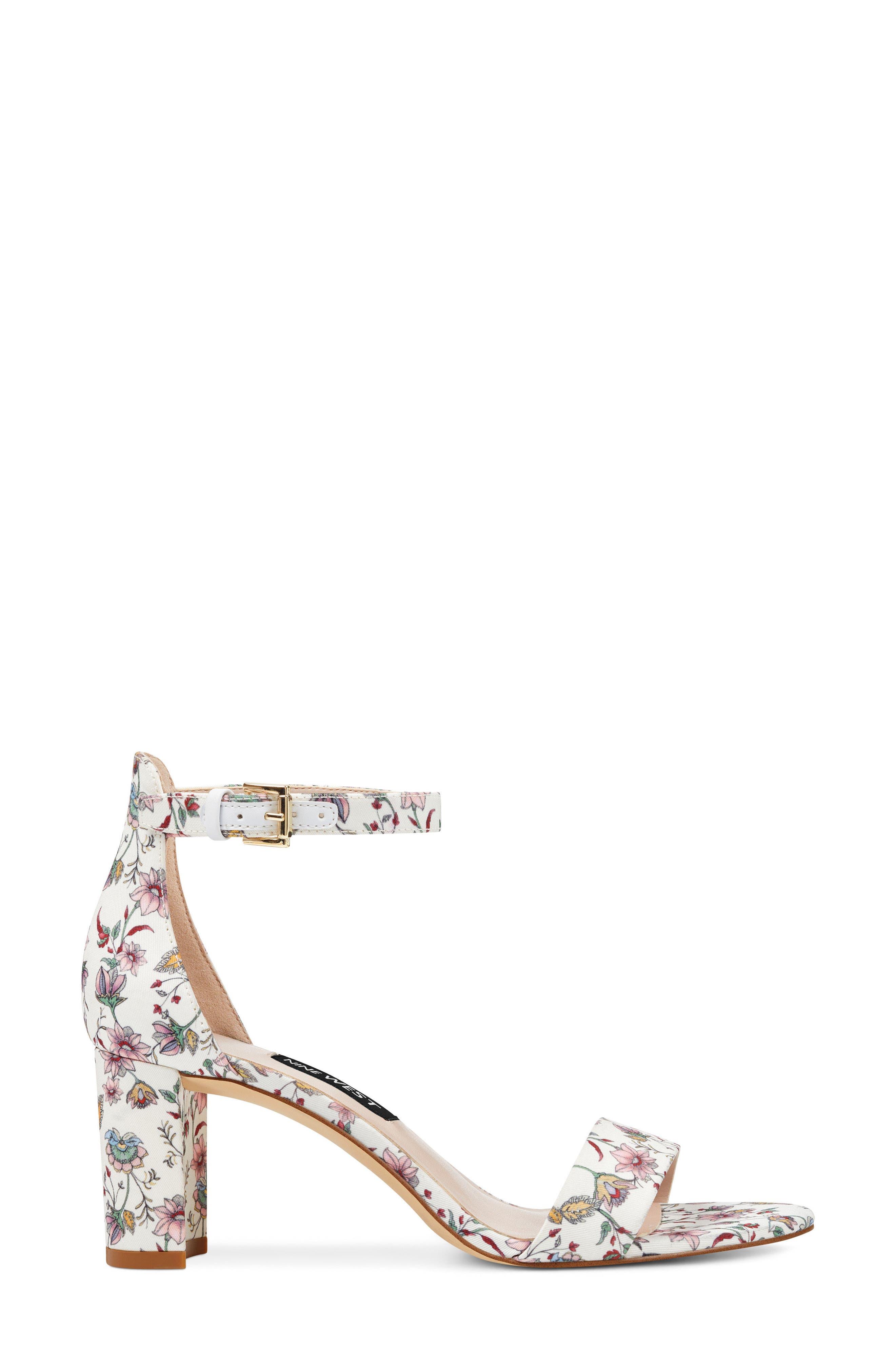 Pruce Ankle Strap Sandal,                             Alternate thumbnail 3, color,                             White Multi