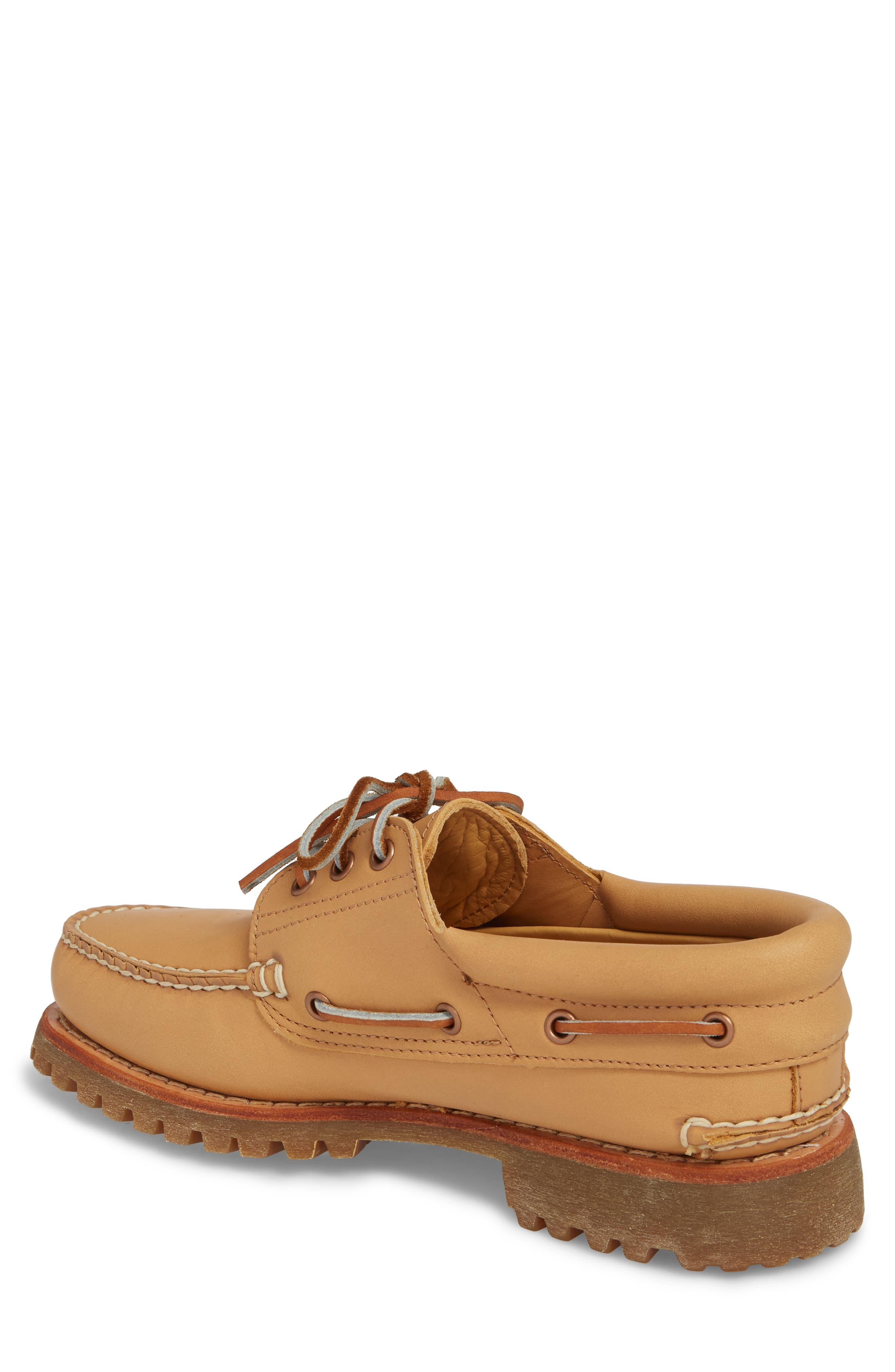 Lug Classic Boat Shoe,                             Alternate thumbnail 2, color,                             Natural Leahter