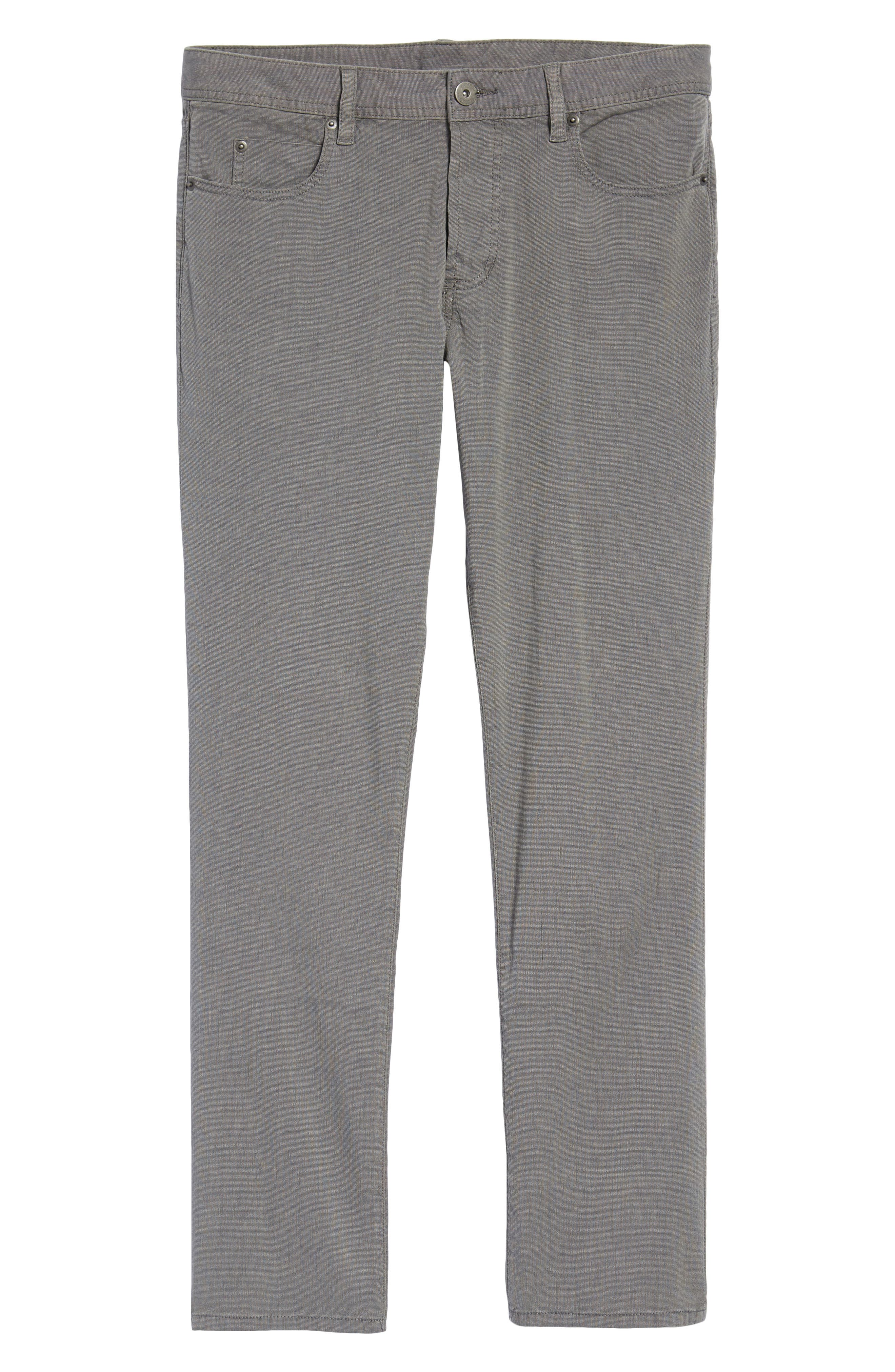 Straight Leg Five-Pocket Pants,                             Alternate thumbnail 5, color,                             Grey