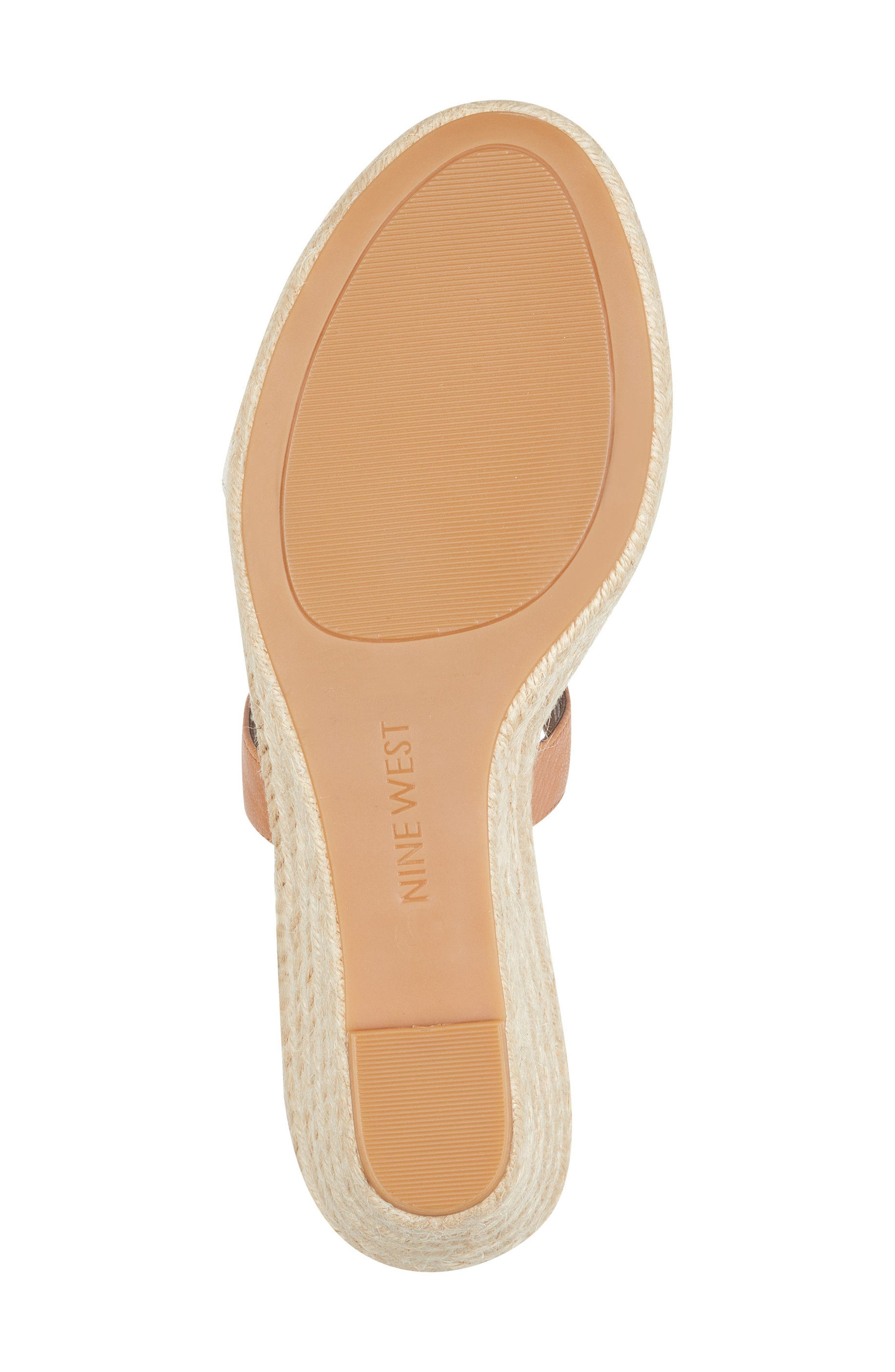 Jorjapeach Espadrille Wedge Sandal,                             Alternate thumbnail 6, color,                             White Leather