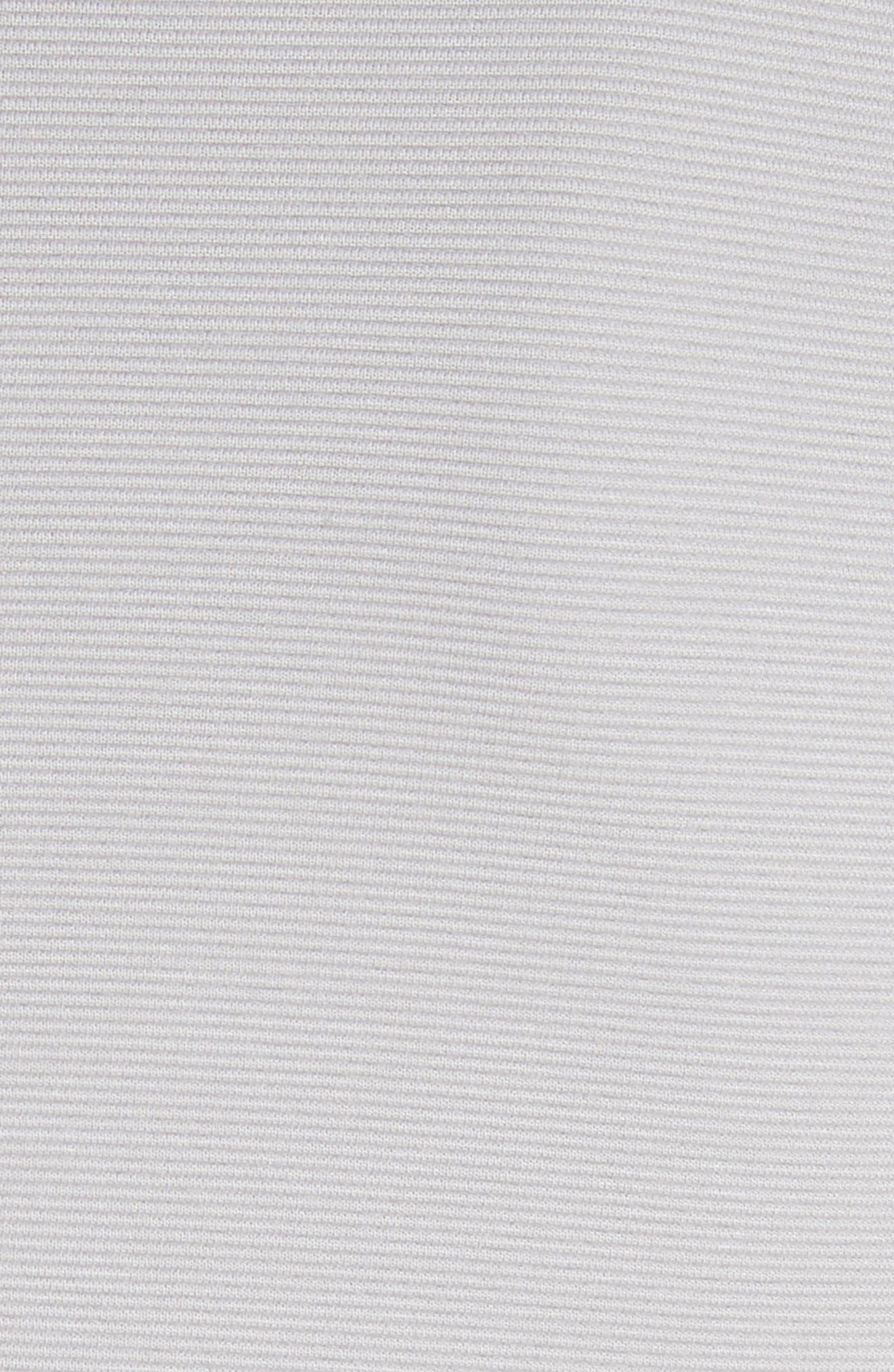 Seamed Ribbed Dress,                             Alternate thumbnail 5, color,                             Pearl Grey