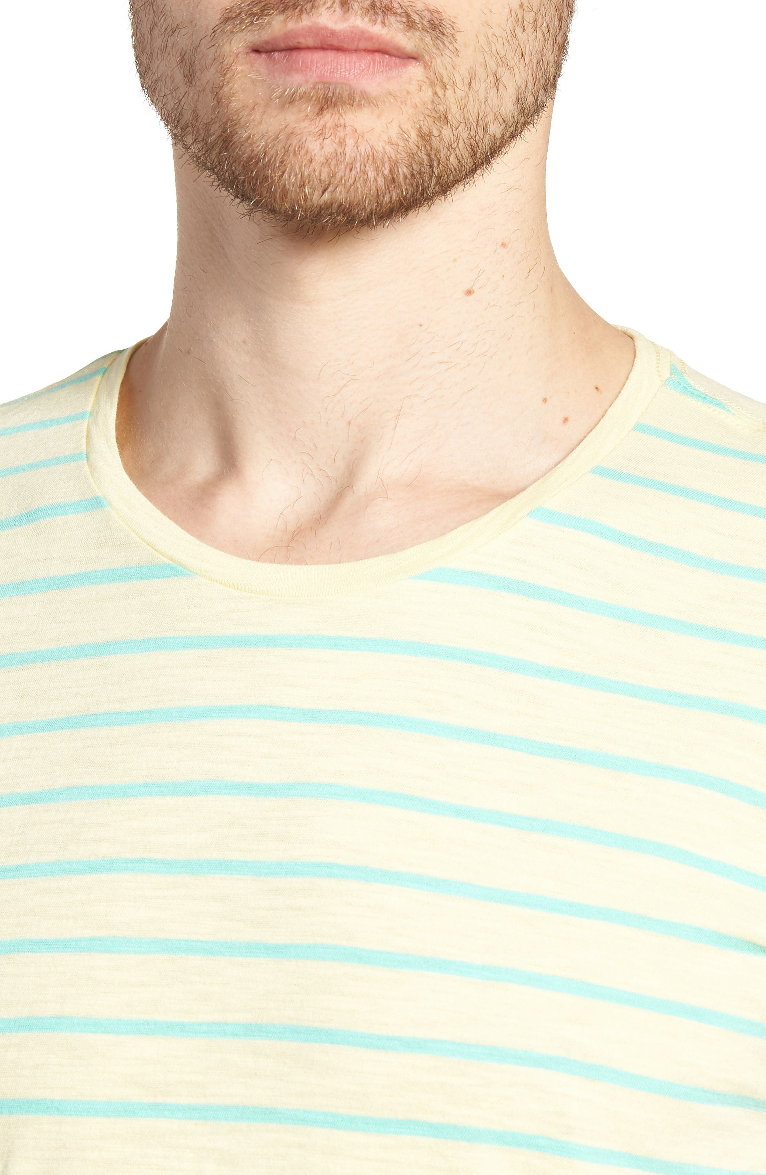 Stripe T-Shirt,                             Alternate thumbnail 4, color,                             Cactus Stripe