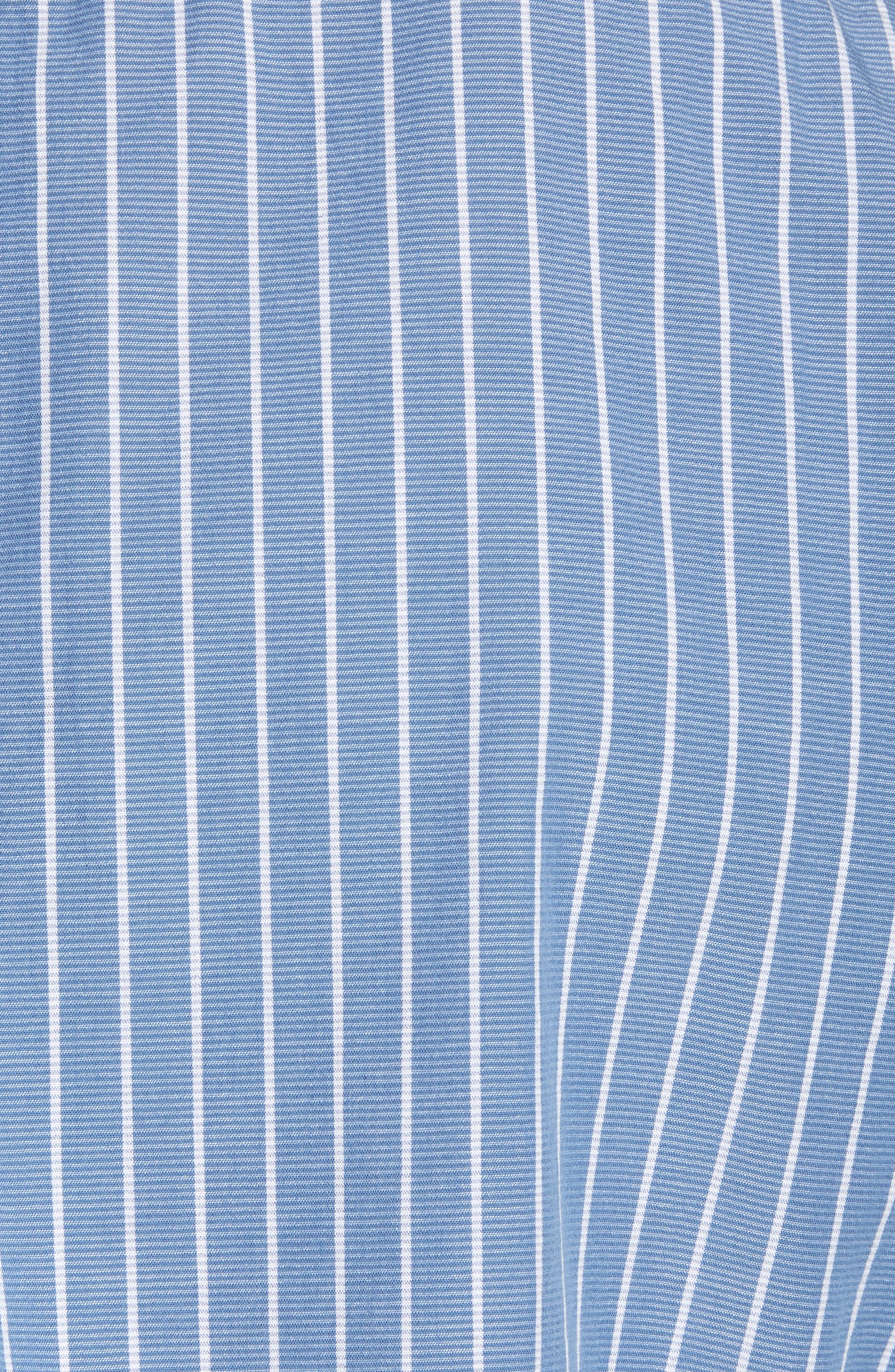 Larkin Stripe Sport Shirt,                             Alternate thumbnail 5, color,                             Blue Cream Stripe