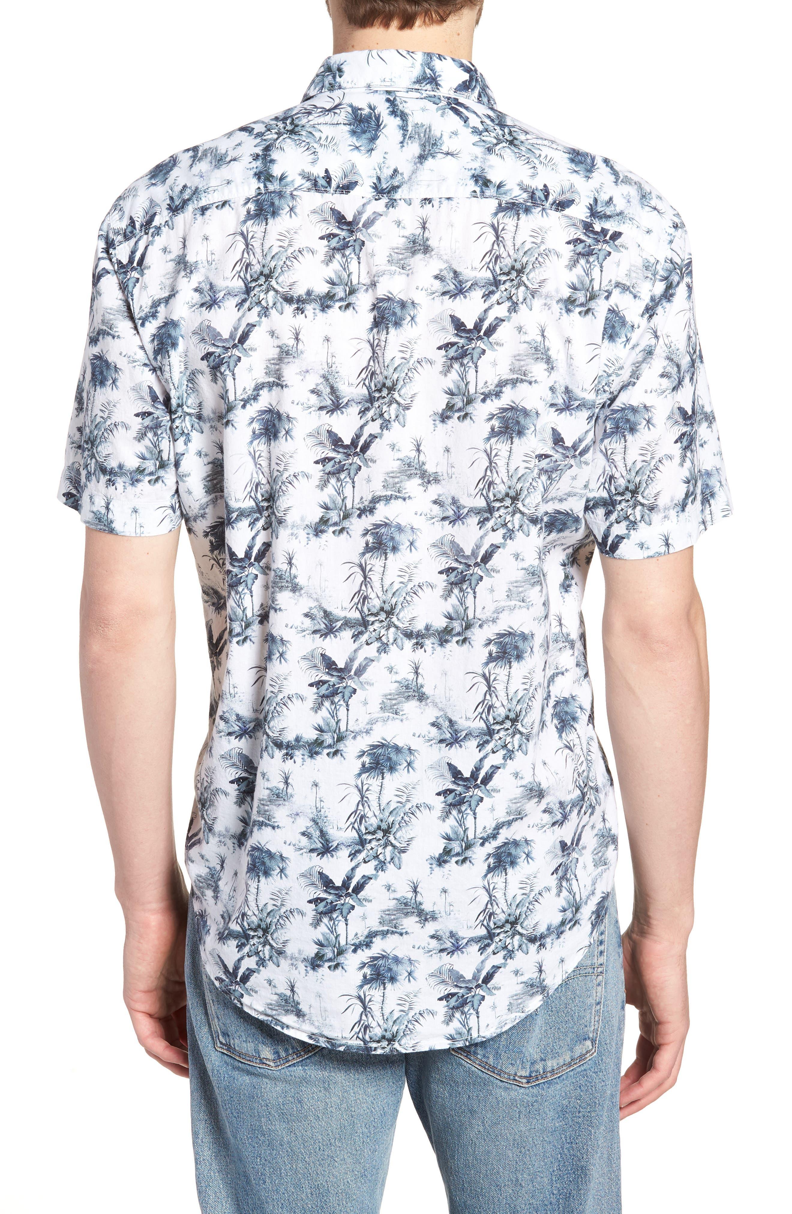 Waiki Regular Fit Short Sleeve Sport Shirt,                             Alternate thumbnail 3, color,                             White
