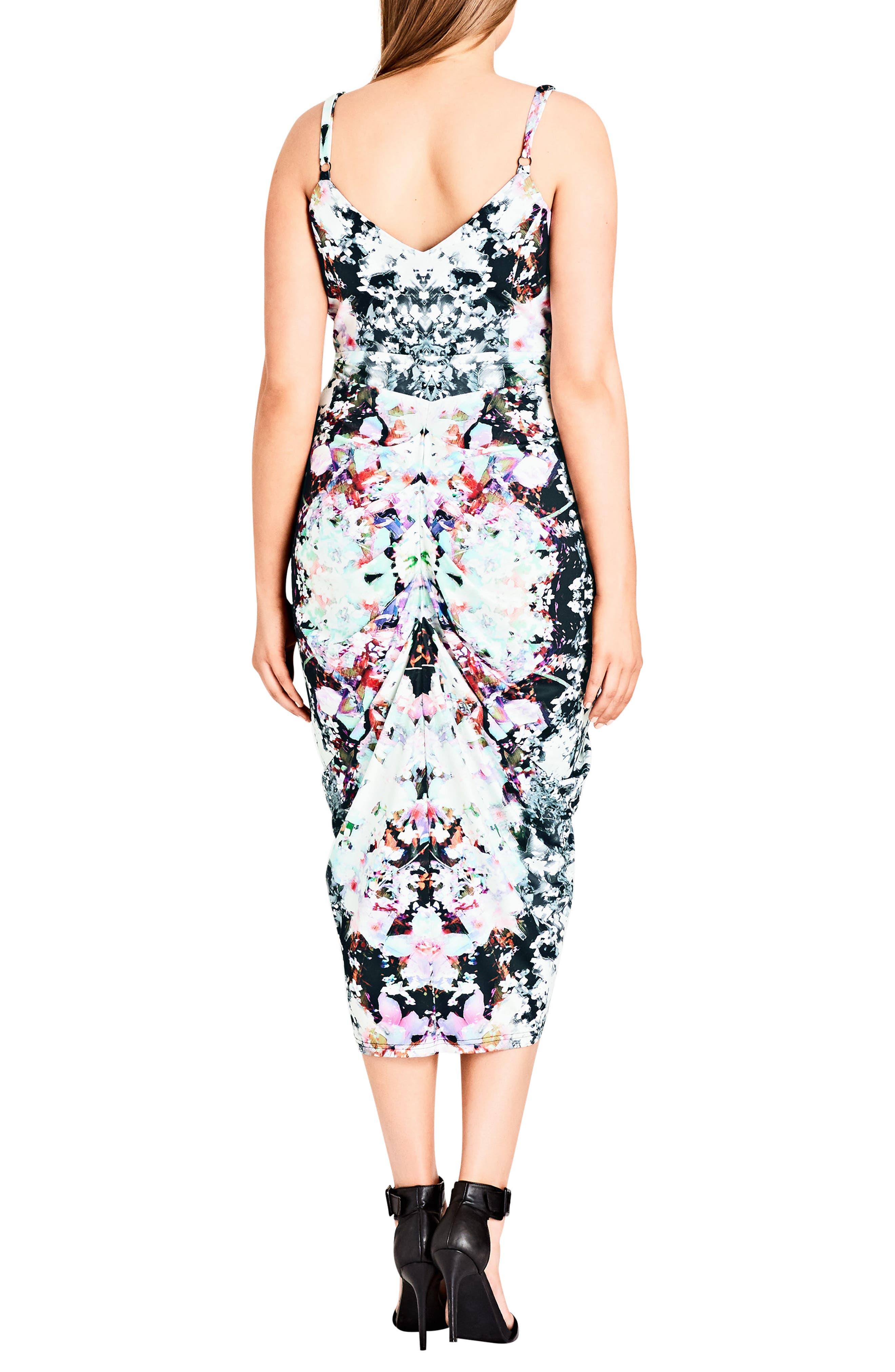 Fresh Floral Body-Con Dress,                             Alternate thumbnail 2, color,                             Fresh Floral
