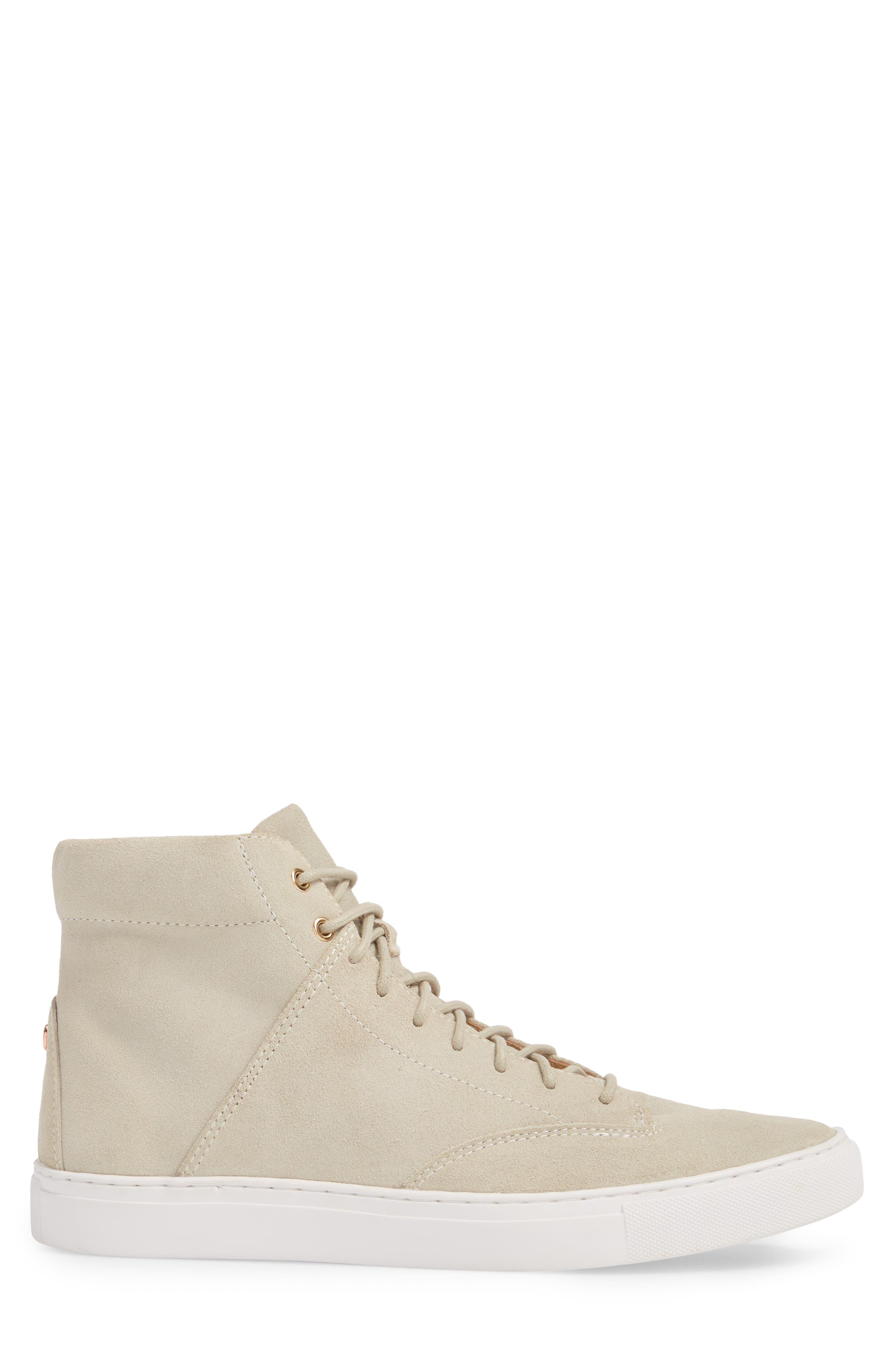 'Porter' High Top Sneaker,                             Alternate thumbnail 3, color,                             Quartz Leather
