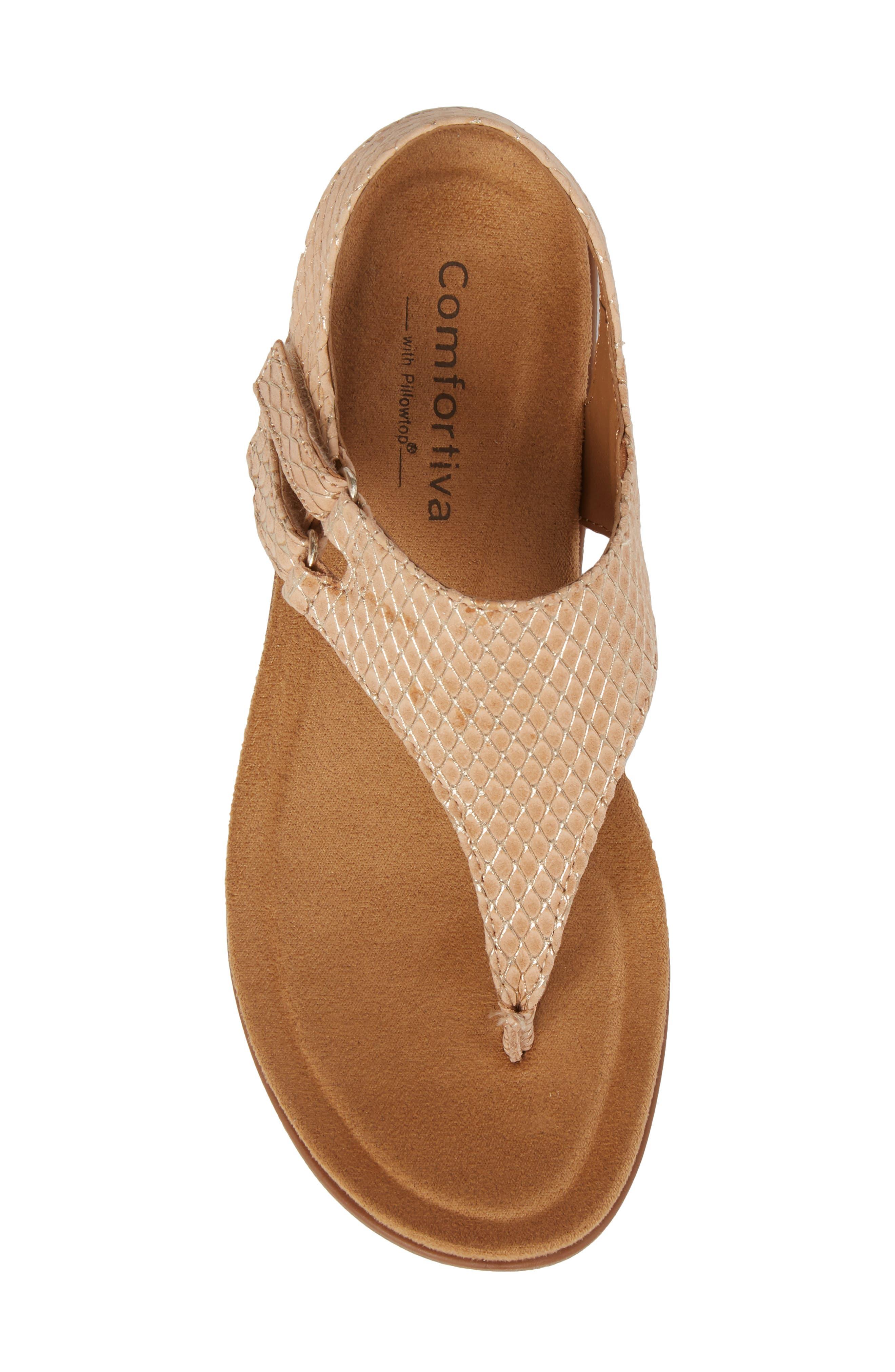 Calina Sandal,                             Alternate thumbnail 5, color,                             Sand Nubuck Leather