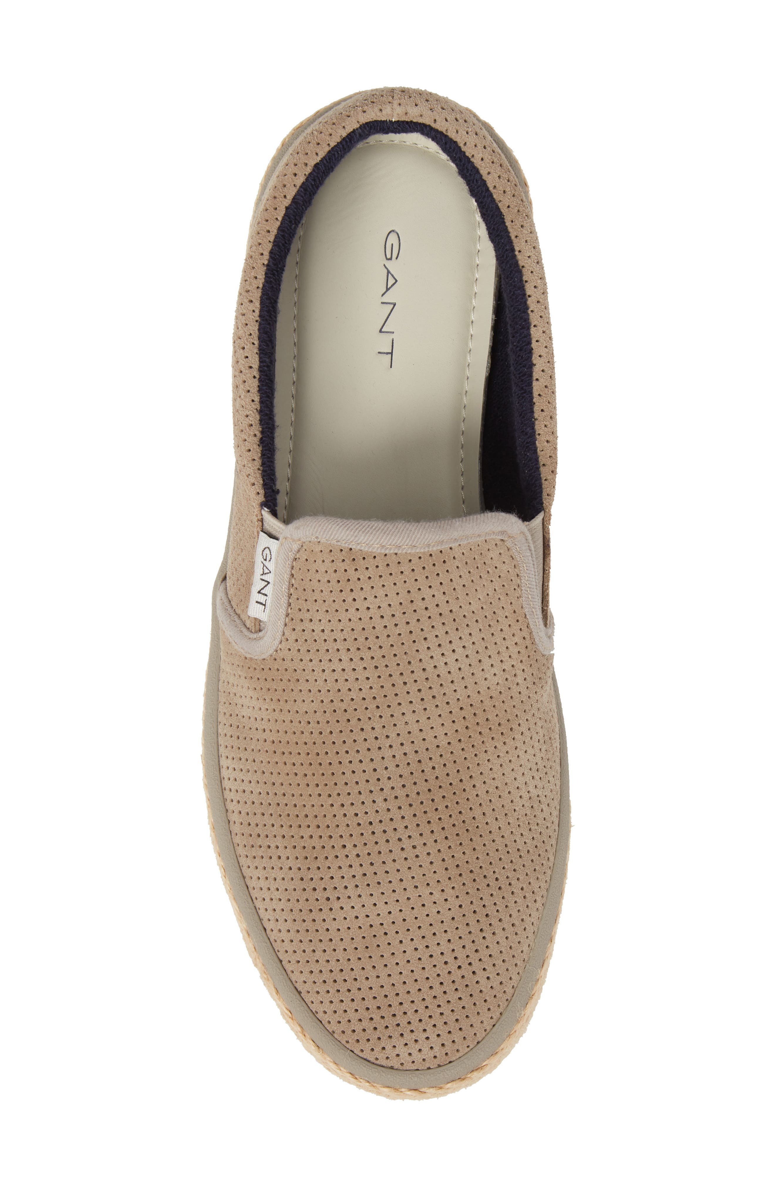 Master Perforated Slip-On Sneaker,                             Alternate thumbnail 5, color,                             Cashew Brown