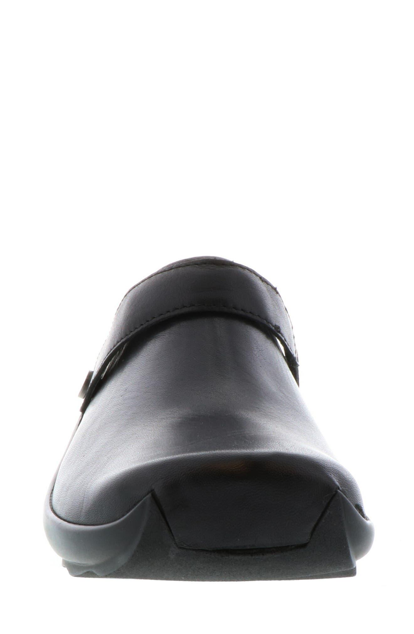 Bi Clog,                             Alternate thumbnail 4, color,                             Black Velvet Leather