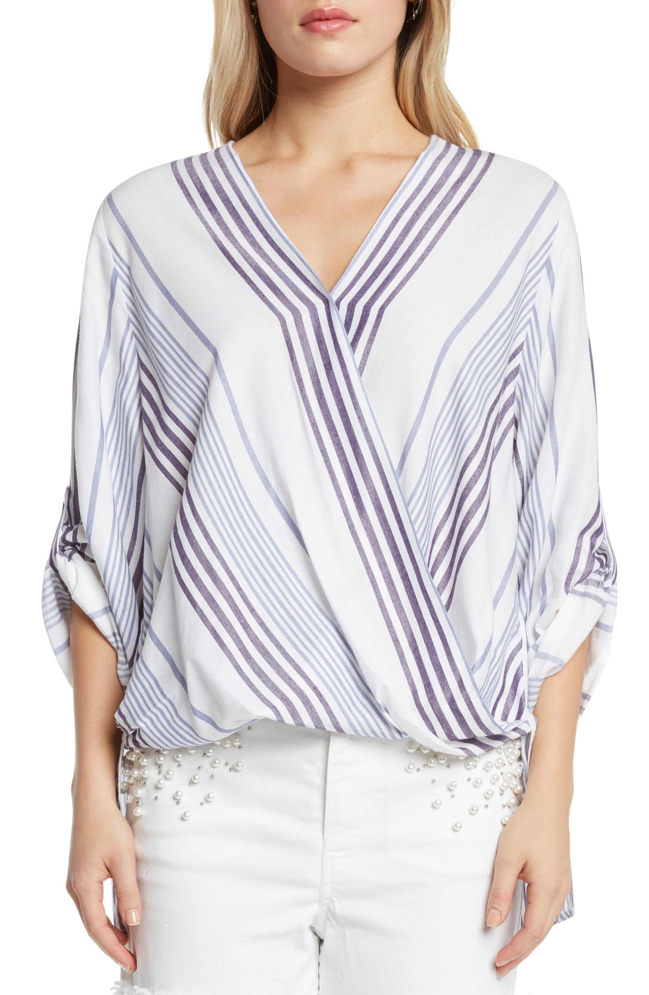 Stripe Blouse,                         Main,                         color, Periwinkle