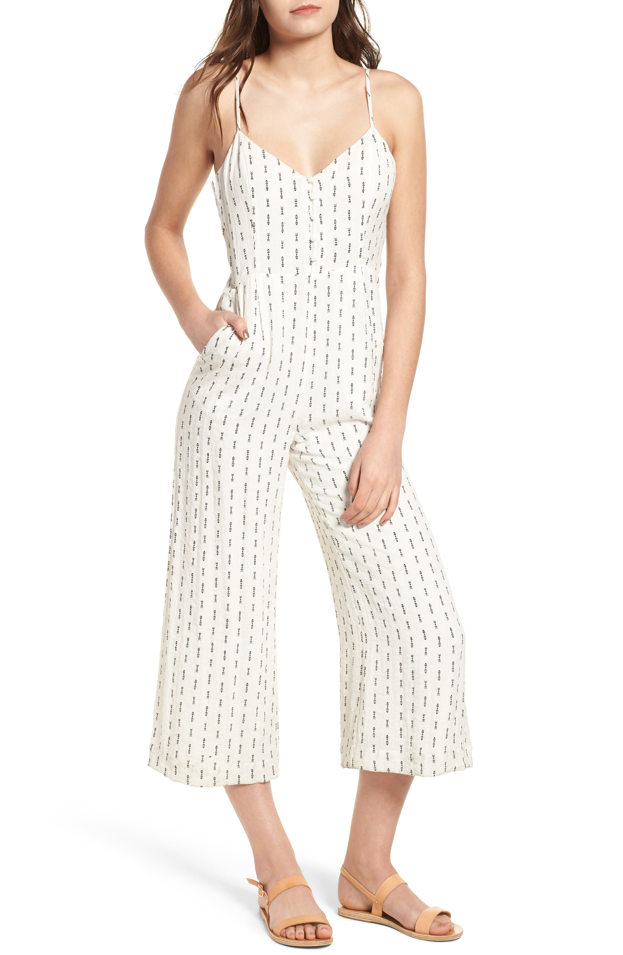 Hollywood Jumpsuit,                             Main thumbnail 1, color,                             White