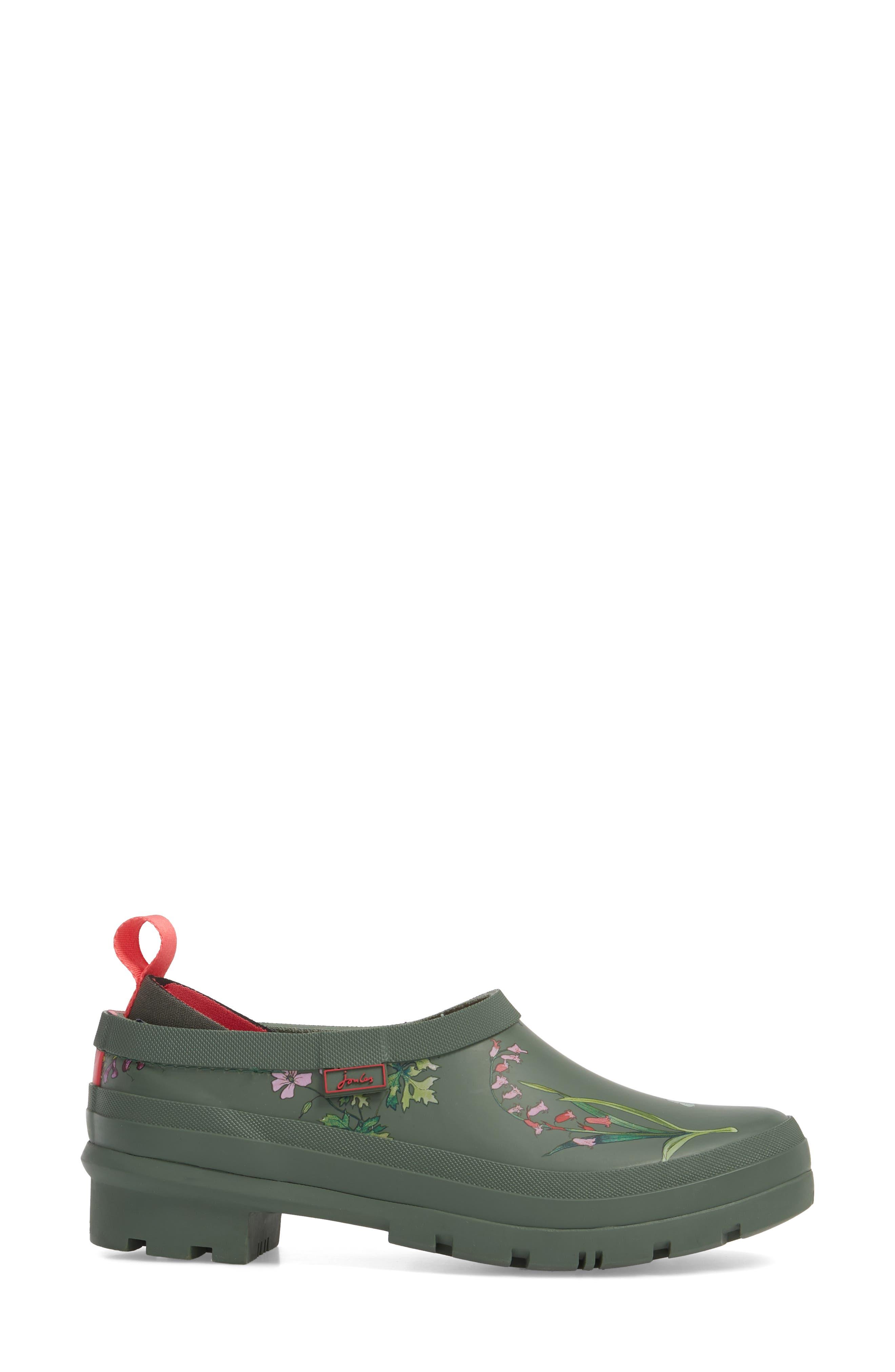 Rain Boot Clog,                             Alternate thumbnail 3, color,                             Laurel Botanical
