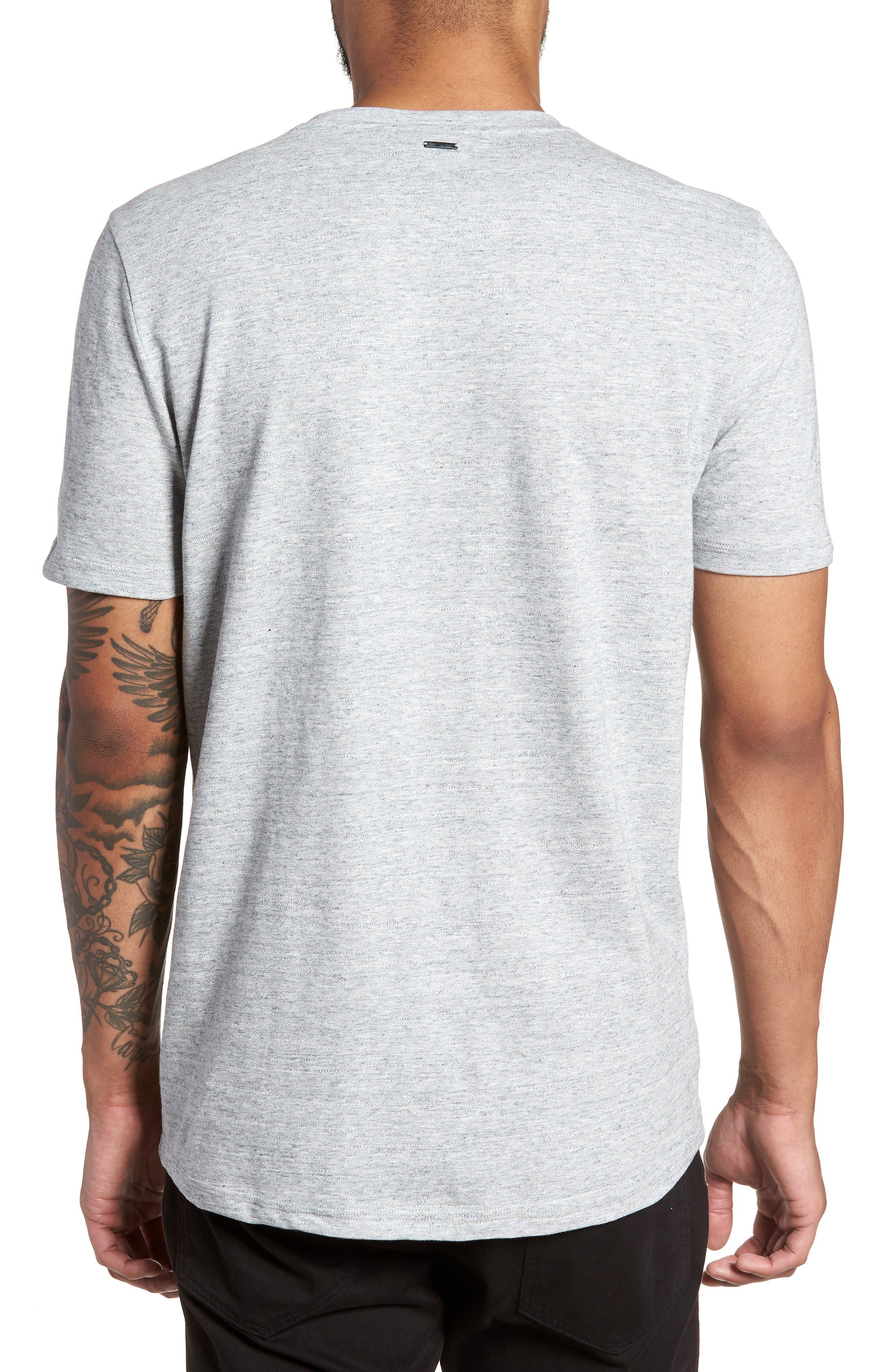 Dohnny Crewneck T-Shirt,                             Alternate thumbnail 2, color,                             Grey