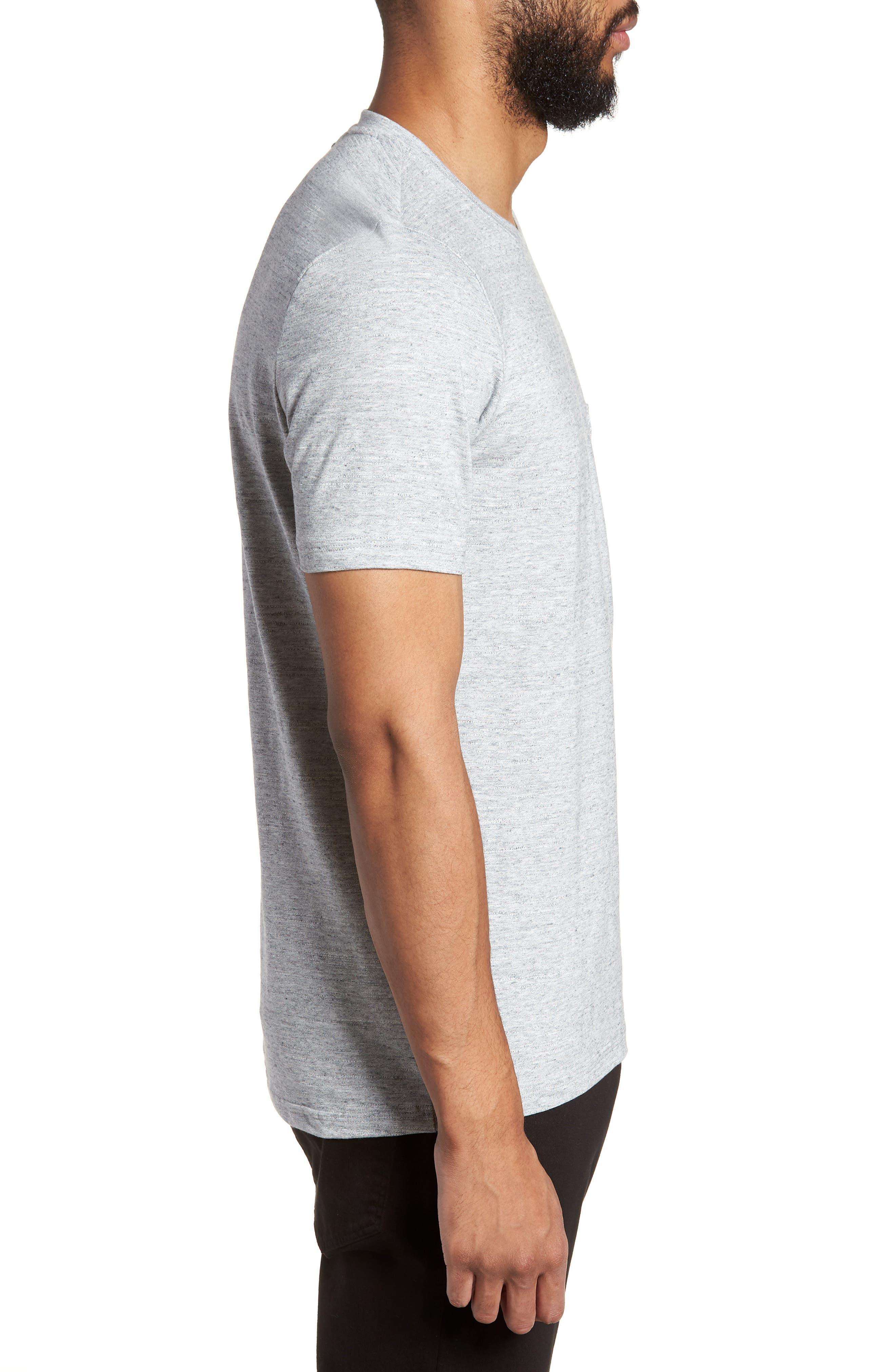 Dohnny Crewneck T-Shirt,                             Alternate thumbnail 3, color,                             Grey