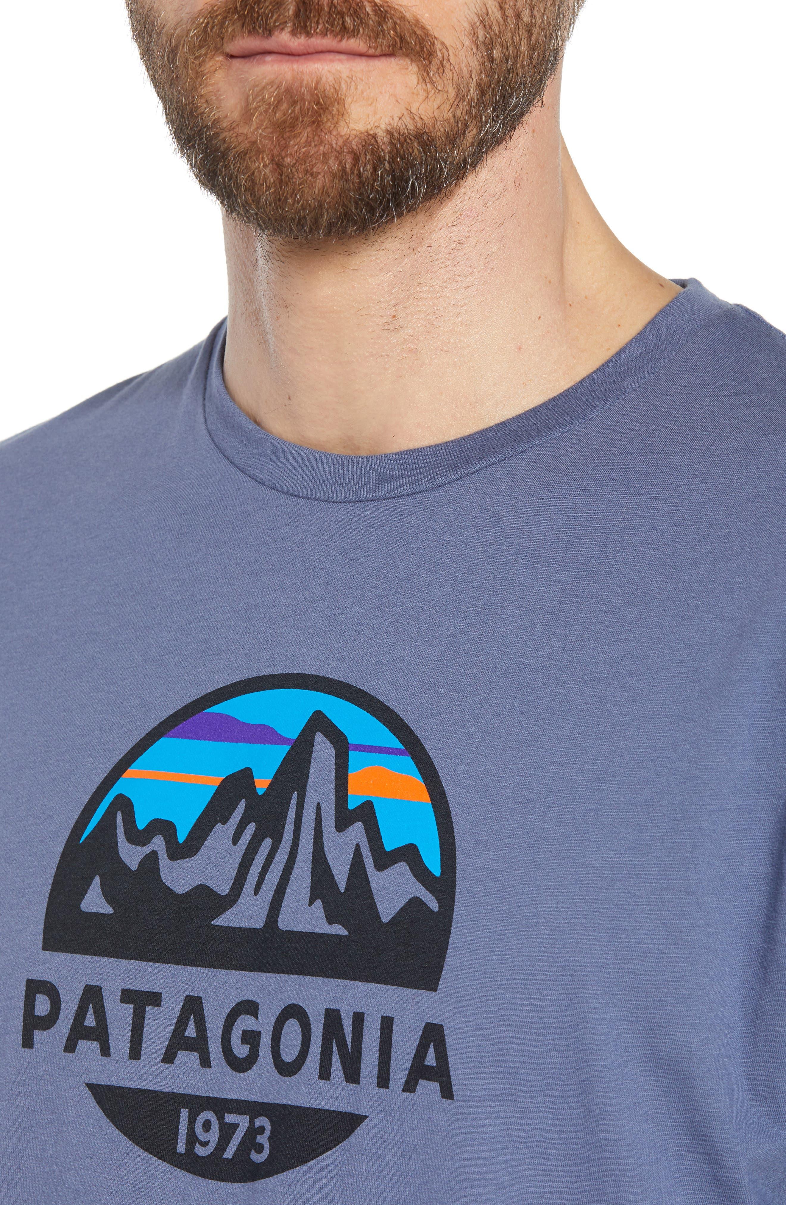 Fitz Roy Scope Crewneck T-Shirt,                             Alternate thumbnail 4, color,                             Dolomite Blue