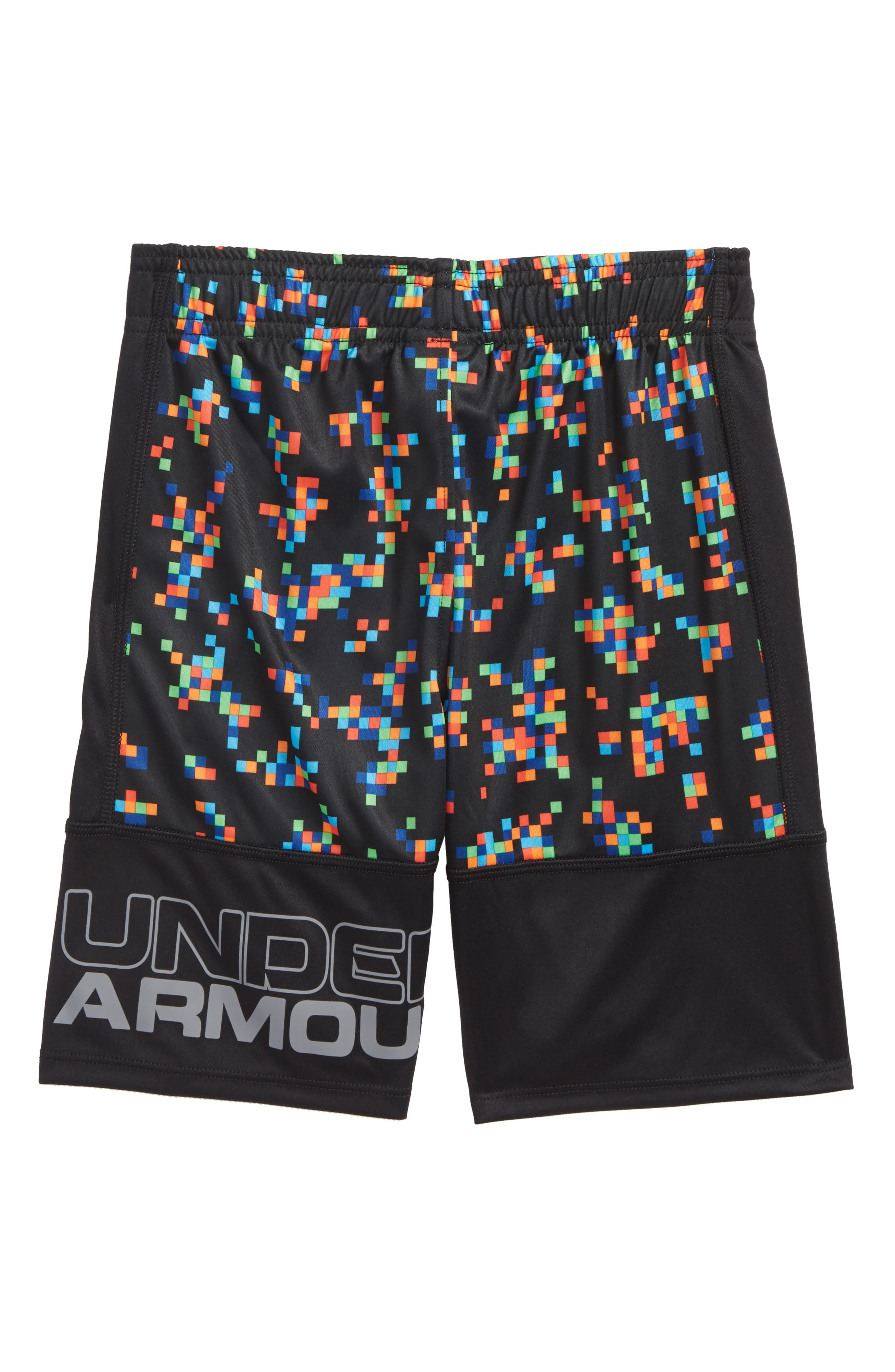 Digi Camo Stunt HeatGear<sup>®</sup> Shorts,                             Alternate thumbnail 3, color,                             Black