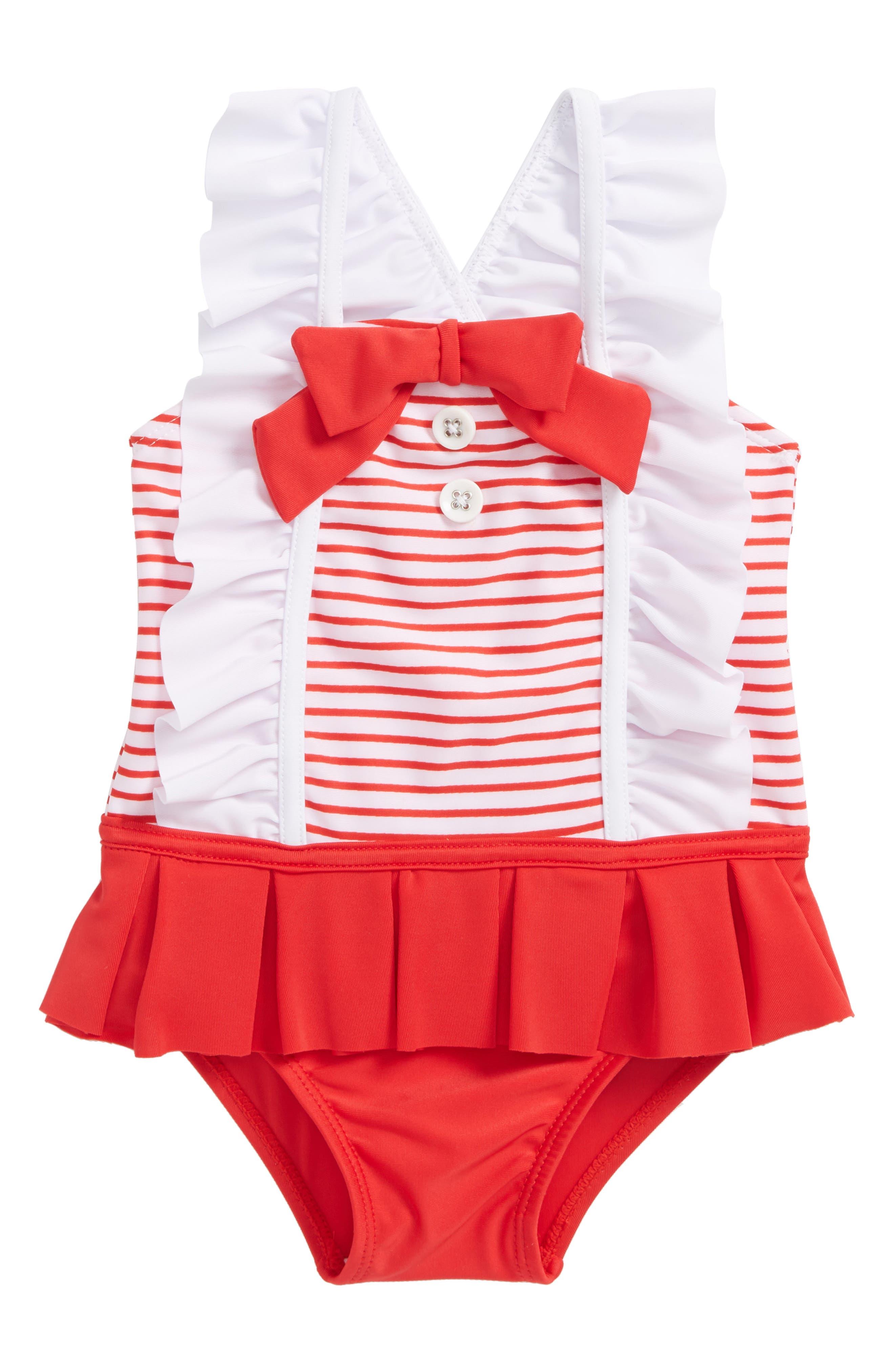Sol Swim Ruffle One-PIece Swimsuit (Toddler Girls & Little Girls)