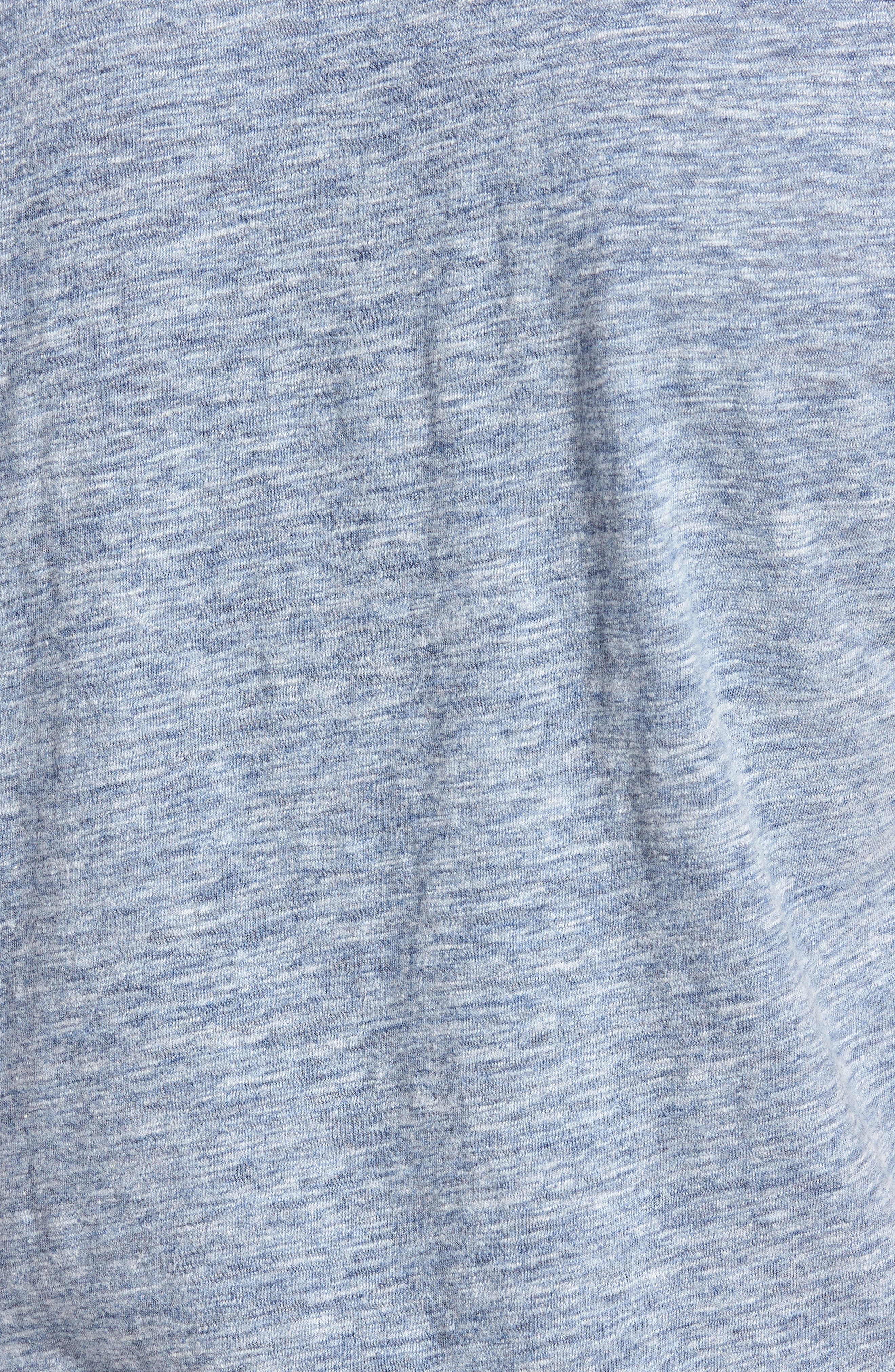 Short Sleeve Heathered Henley,                             Alternate thumbnail 5, color,                             Navy