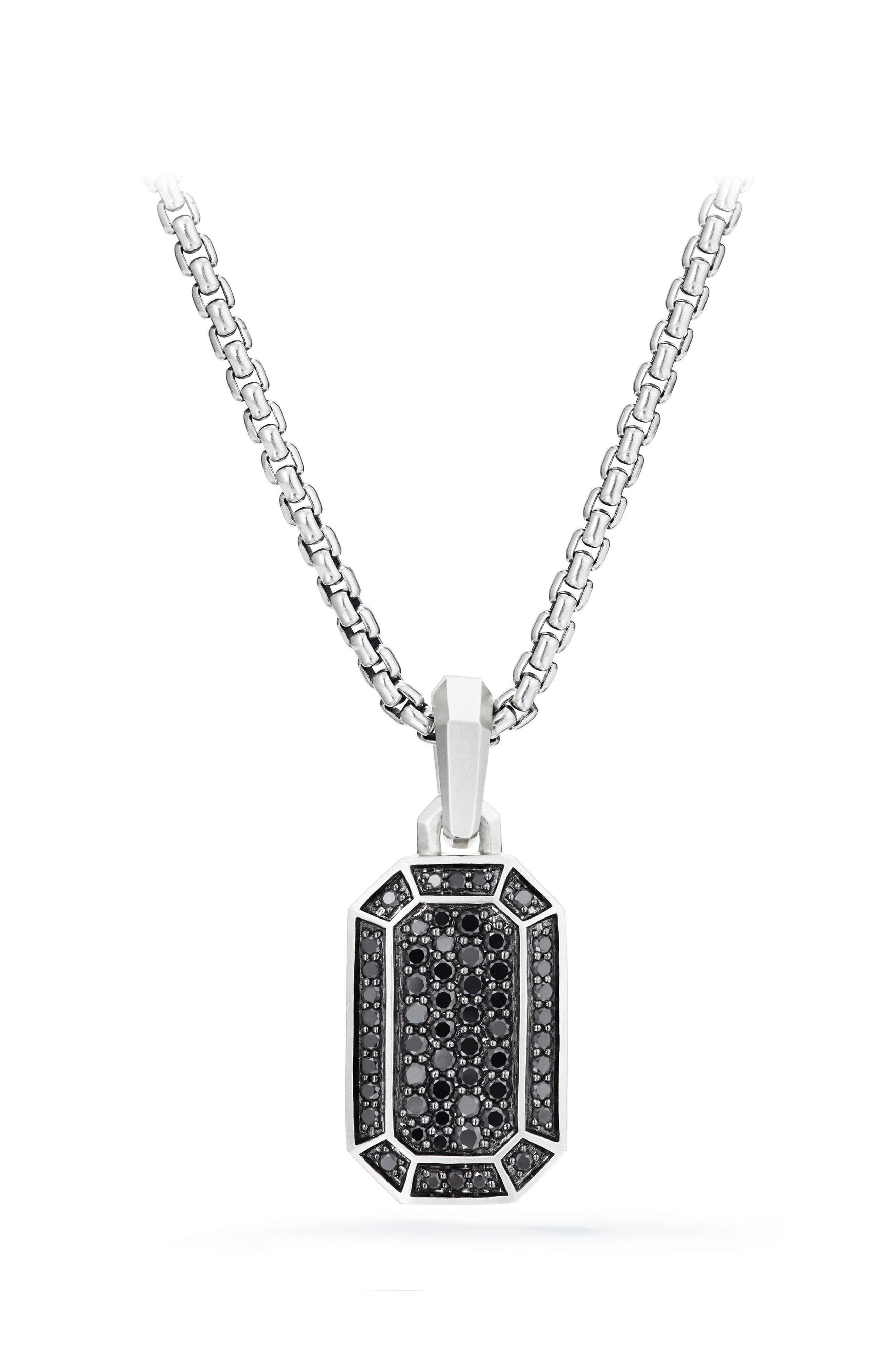 Streamline Pavé Amulet with Black Diamonds,                             Main thumbnail 1, color,                             Black Diamond