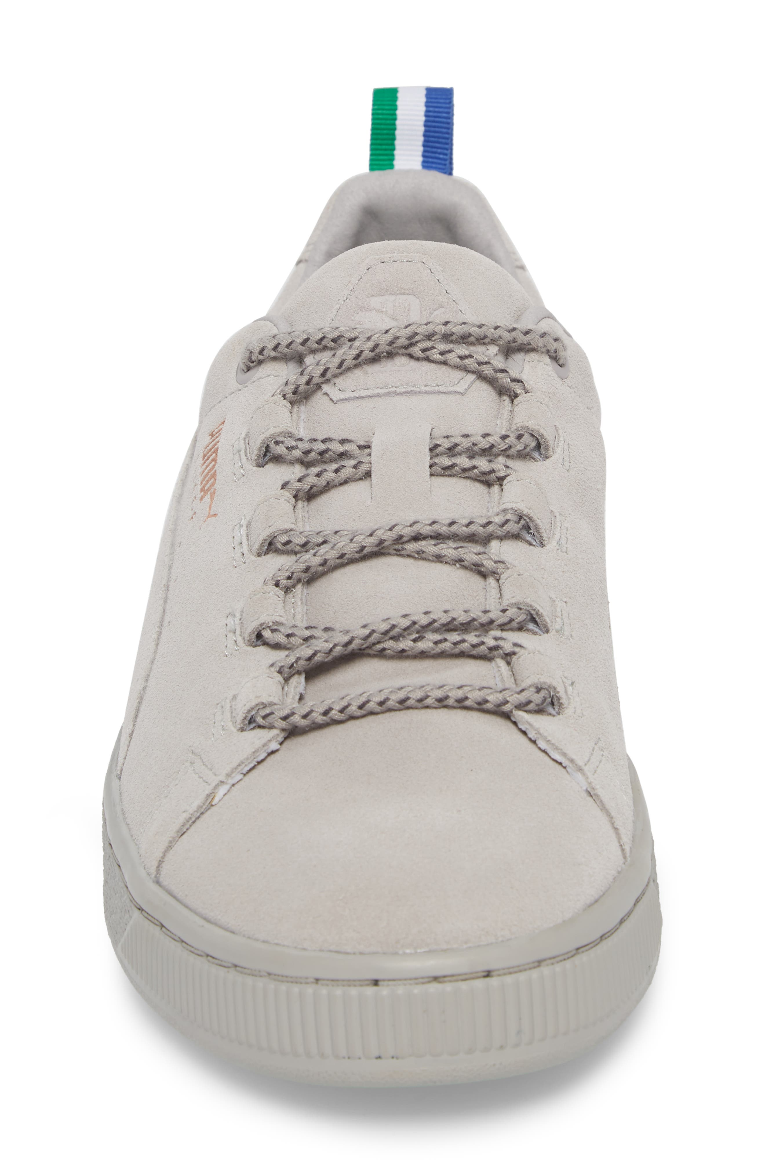 x Big Sean Suede Sneaker,                             Alternate thumbnail 4, color,                             Ash Leather/ Suede