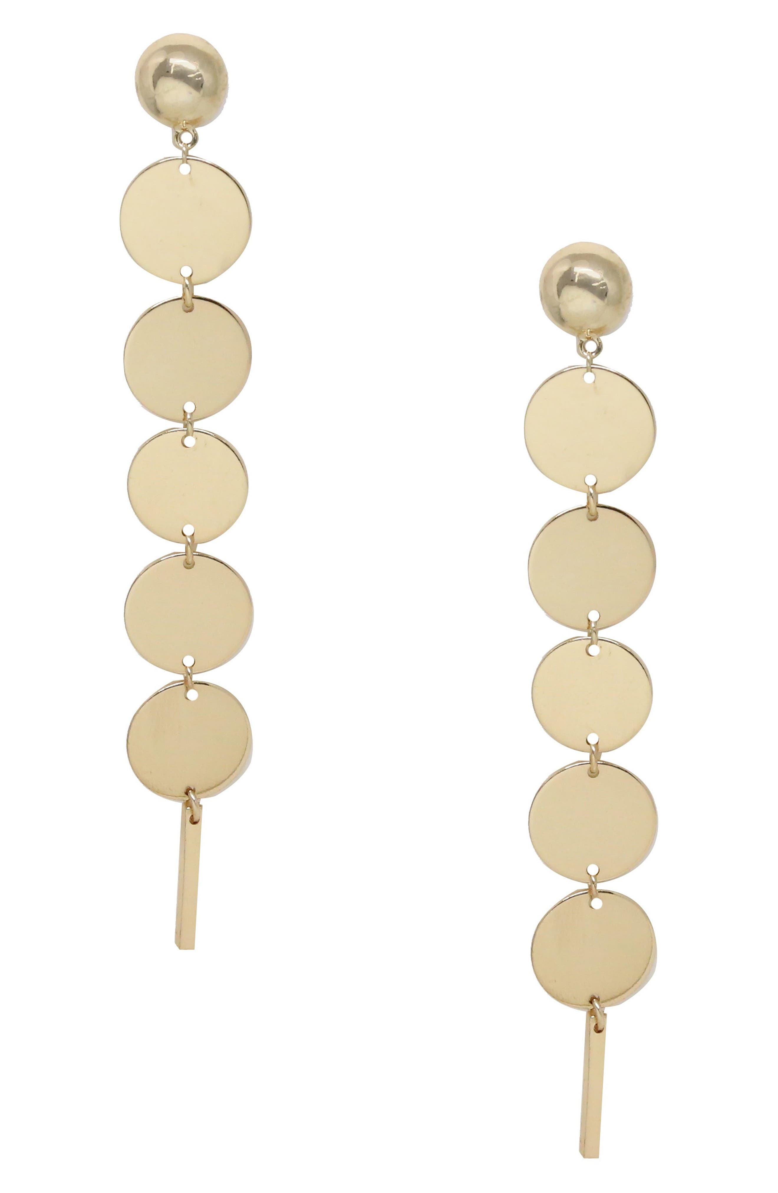 Tulum Disc Earrings,                         Main,                         color, Gold