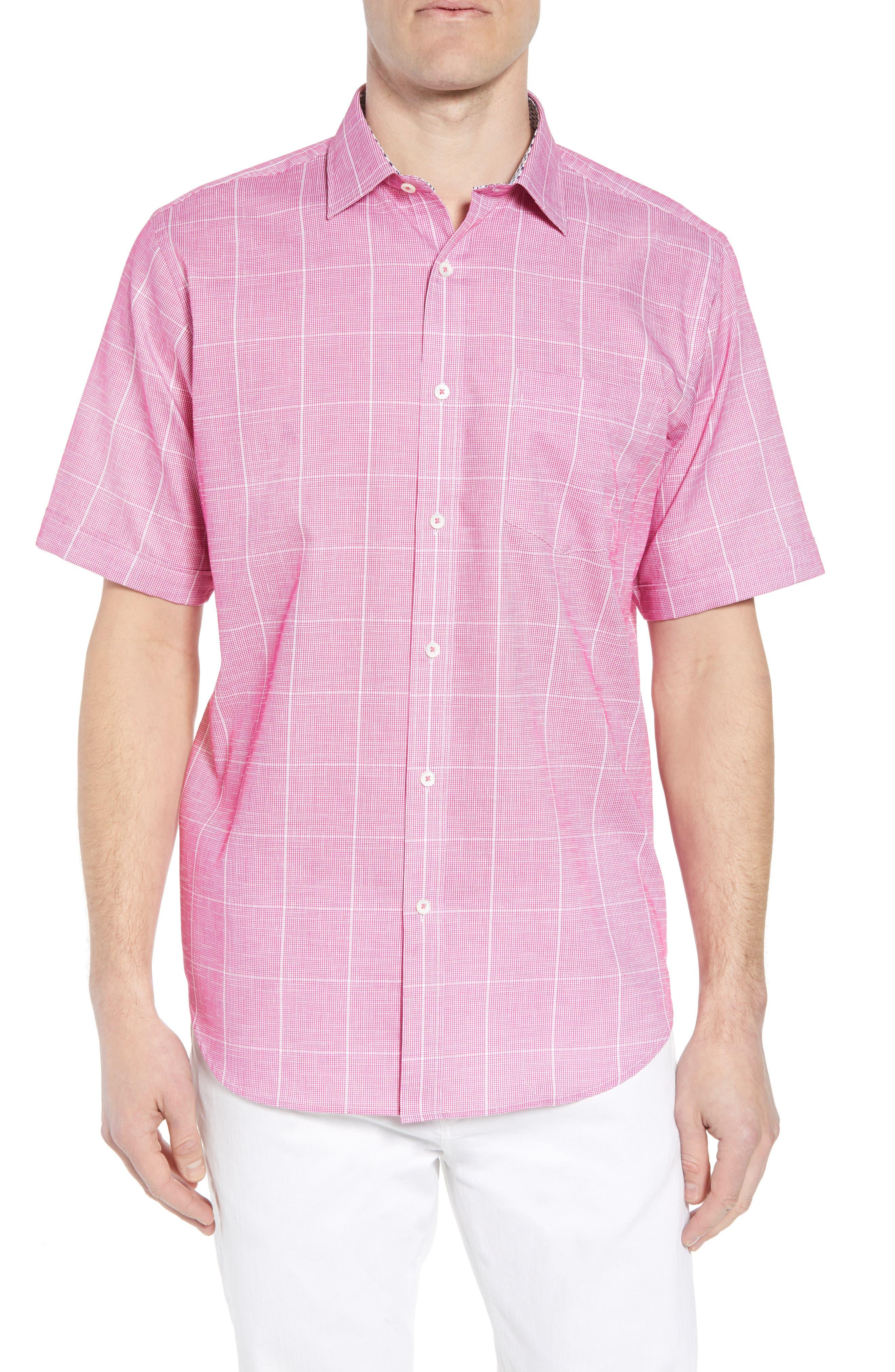 Classic Fit Check Sport Shirt,                             Main thumbnail 1, color,                             Berry