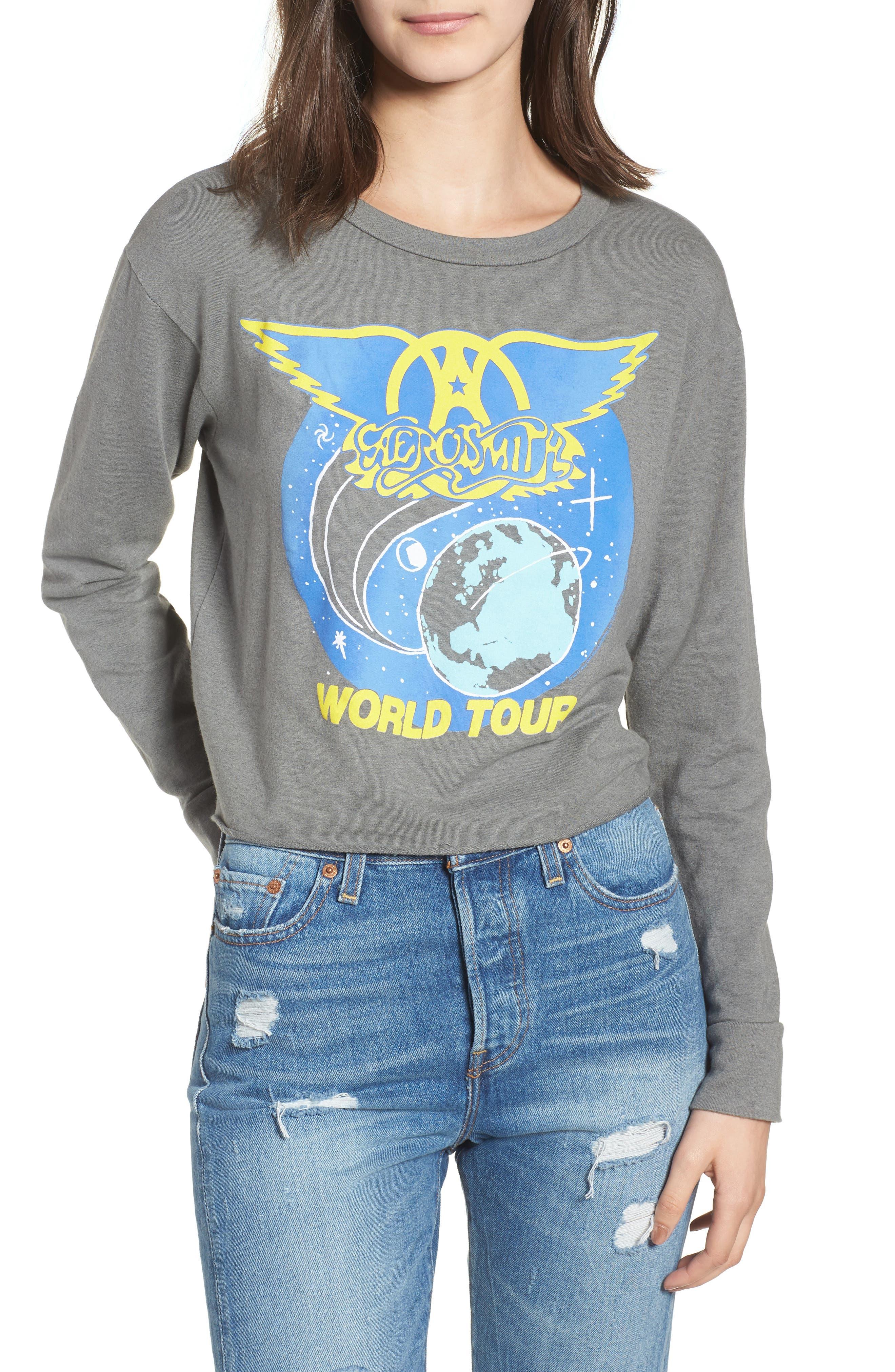 Aerosmith Sweatshirt,                             Main thumbnail 1, color,                             Clay