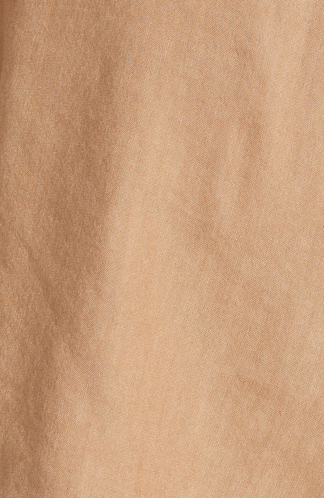 Dawson Flutter Tie Waist Linen Blend Shorts,                             Alternate thumbnail 5, color,                             Tan