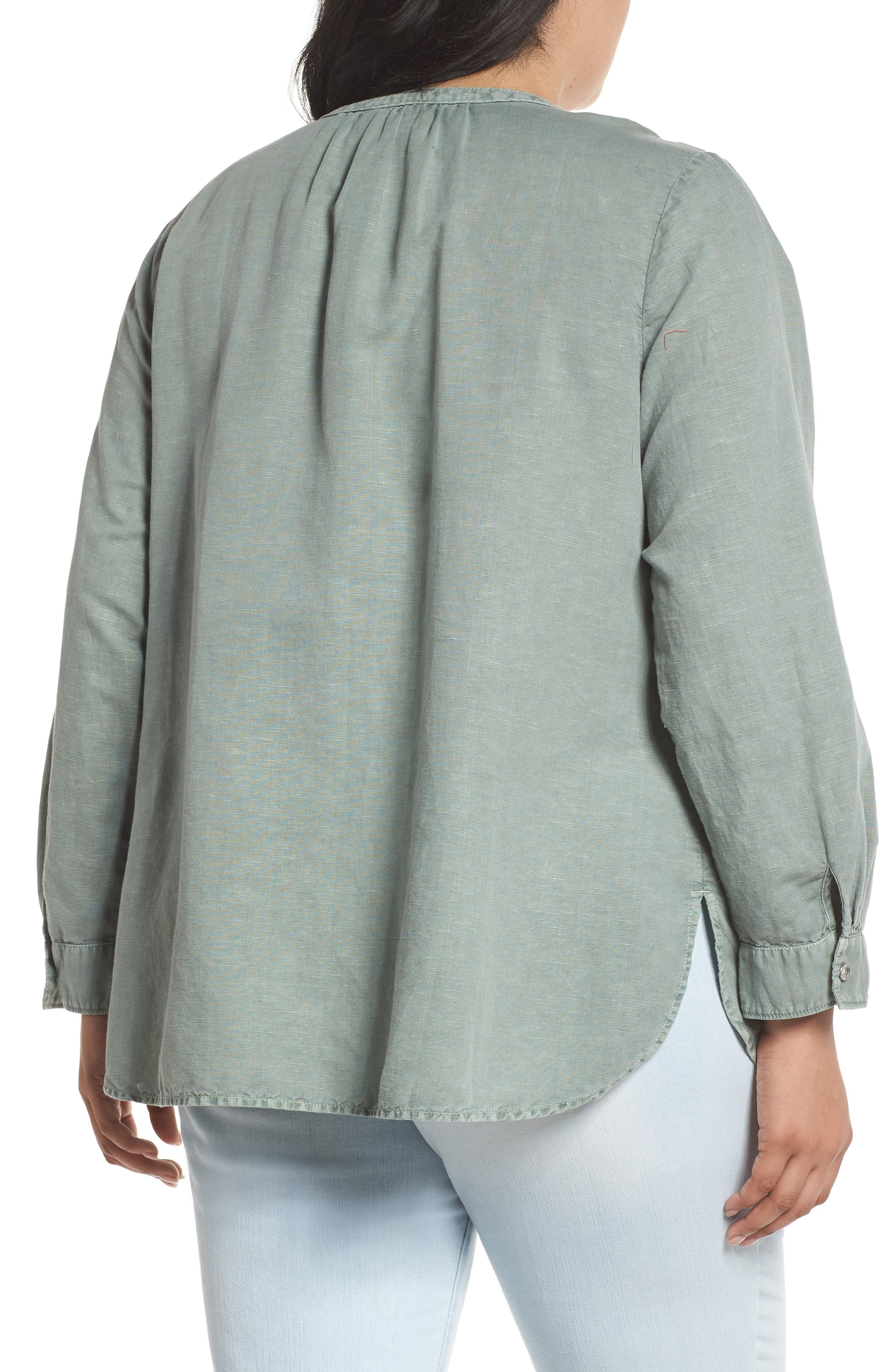 Long Sleeve Top,                             Alternate thumbnail 2, color,                             Green Lilypad