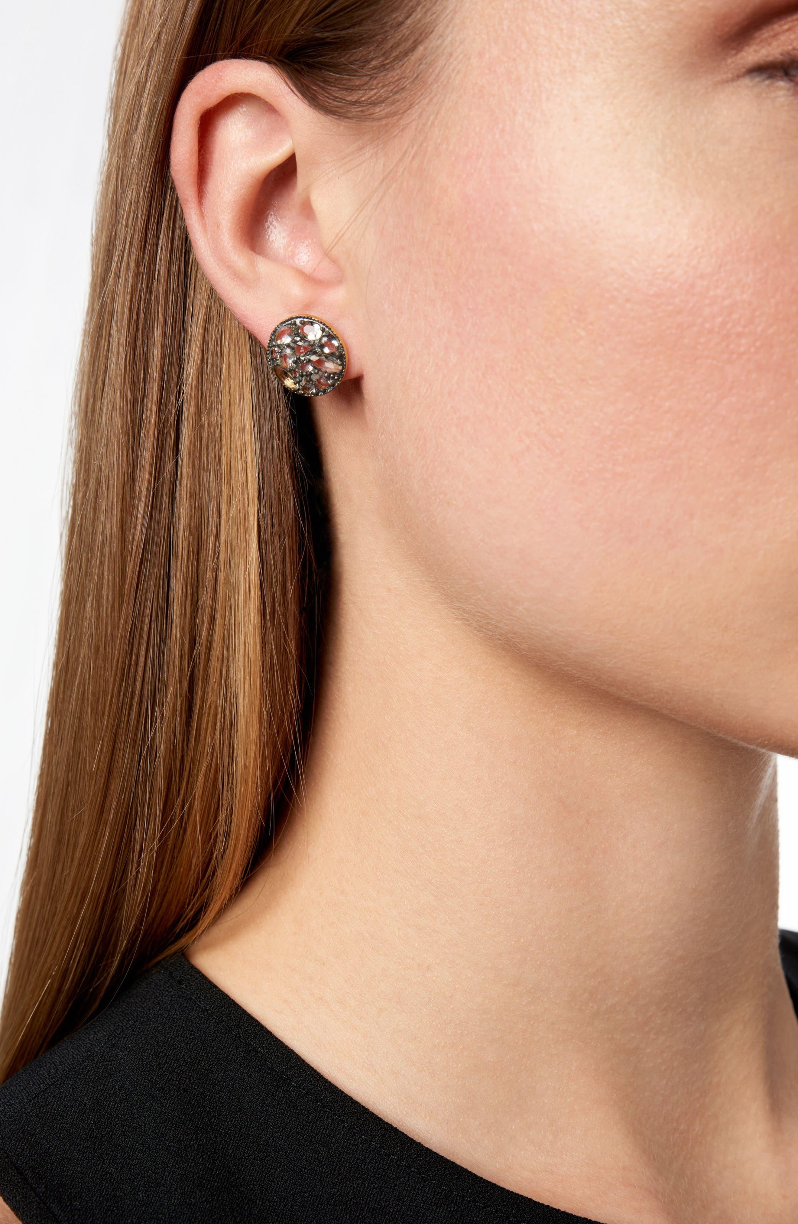 Rose Dor Disc Clip Earrings,                             Alternate thumbnail 2, color,