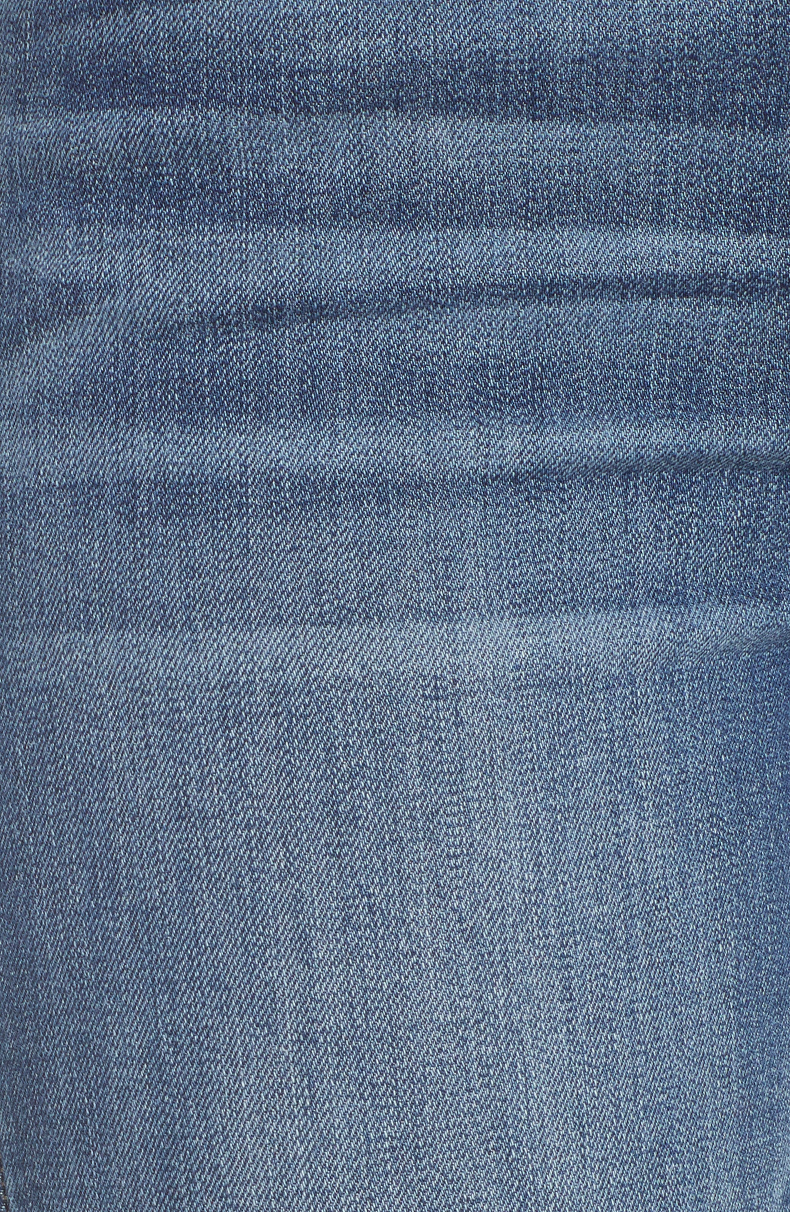 Step Hem Crop Flare Jeans,                             Alternate thumbnail 4, color,                             Med Wash