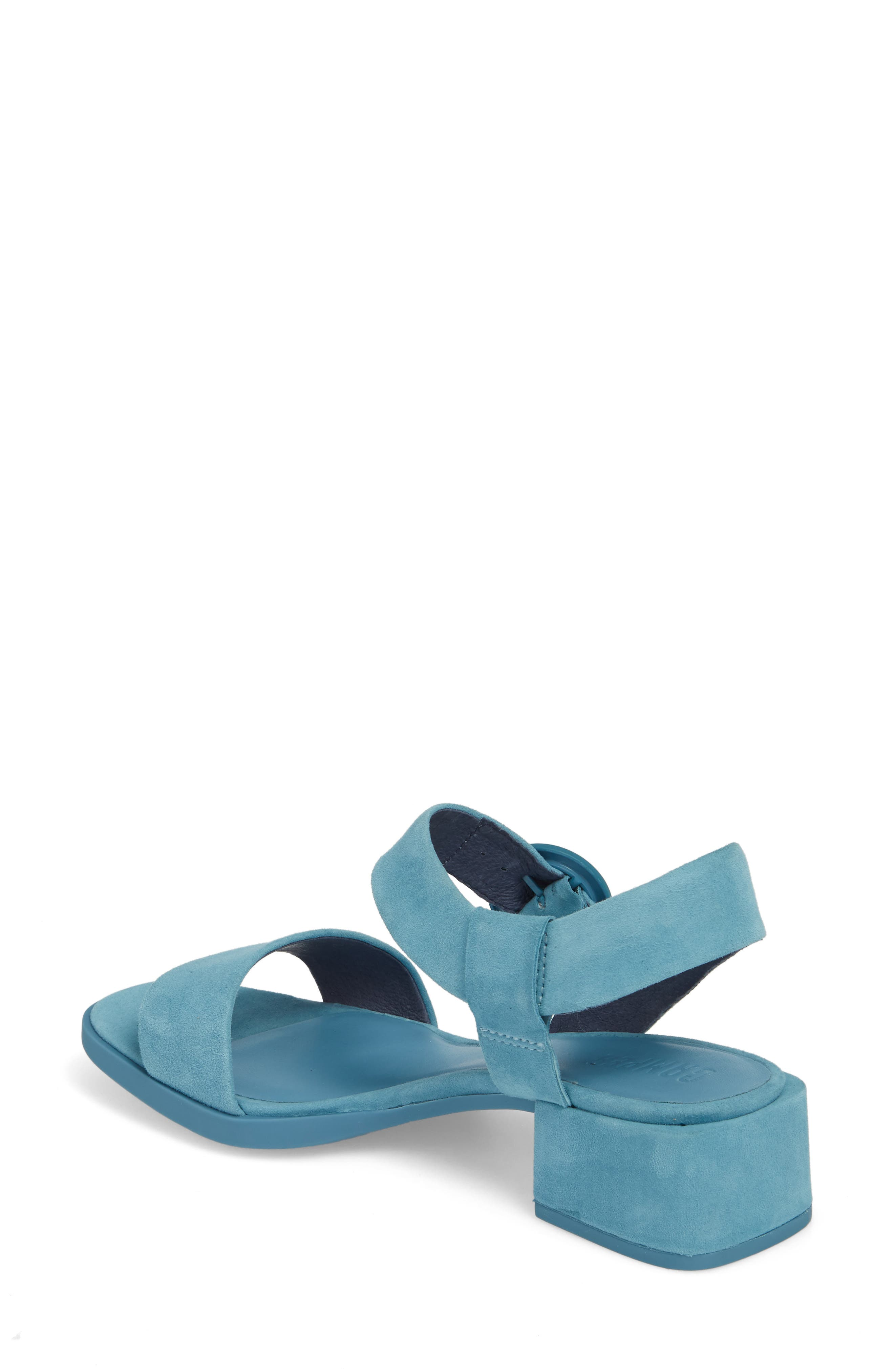 Kobo Sandal,                             Alternate thumbnail 2, color,                             Medium Blue Suede