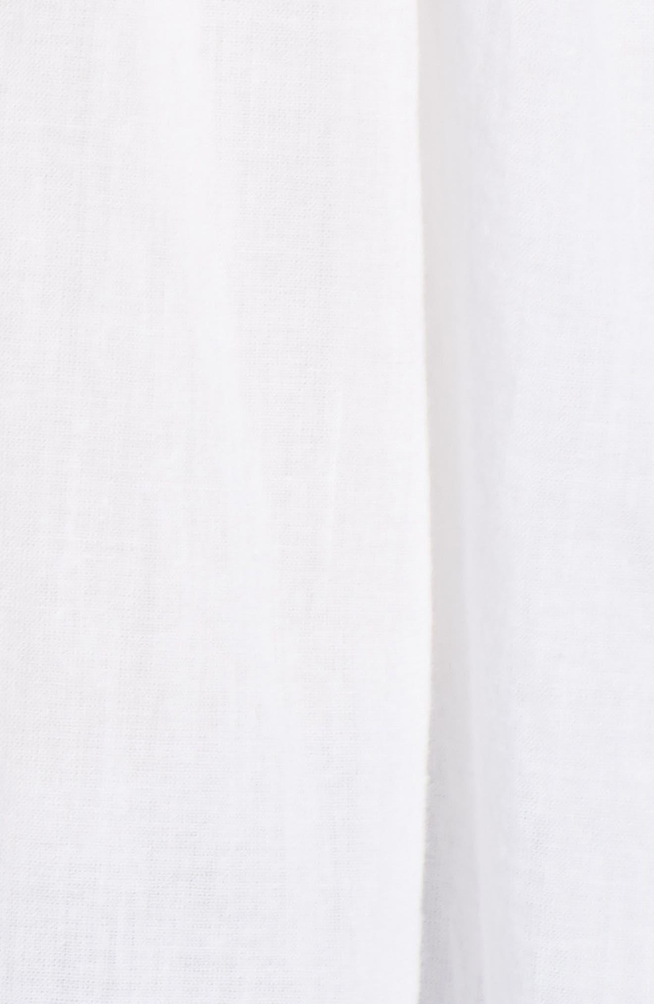 Cotton Lace Peasant Blouse,                             Alternate thumbnail 6, color,                             White