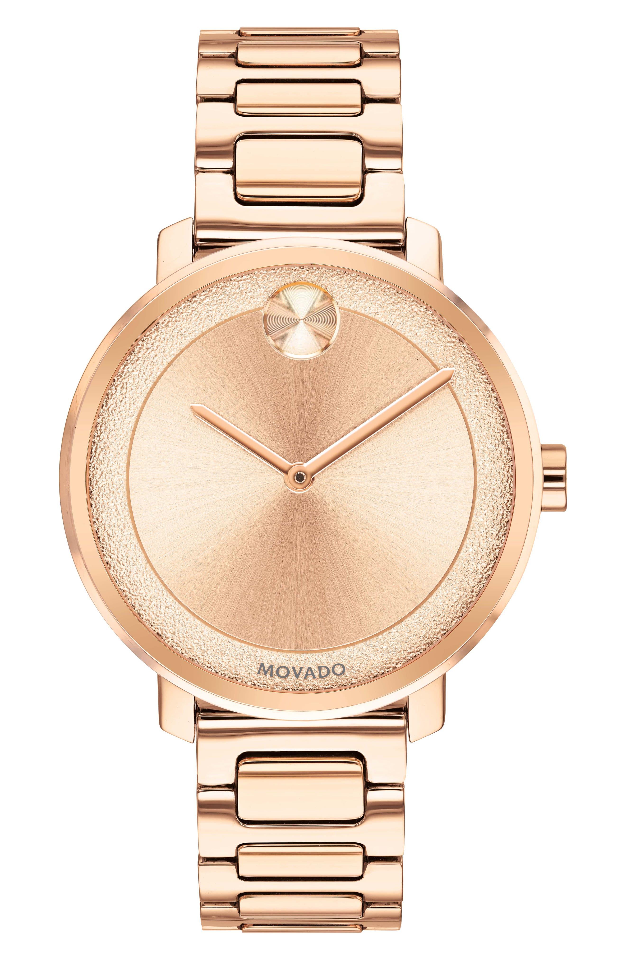 Bold Bracelet Watch, 34mm,                             Main thumbnail 1, color,                             Rose Gold