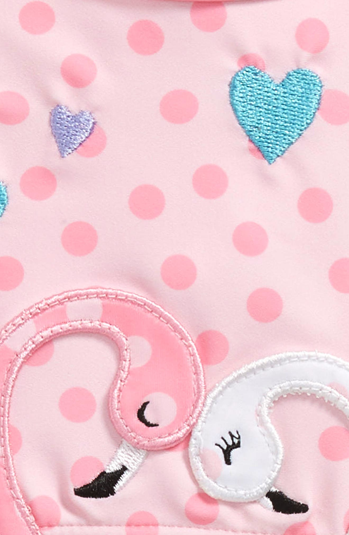 Flamingos in Love Cutout One-Piece Swimsuit,                             Alternate thumbnail 2, color,                             Pink