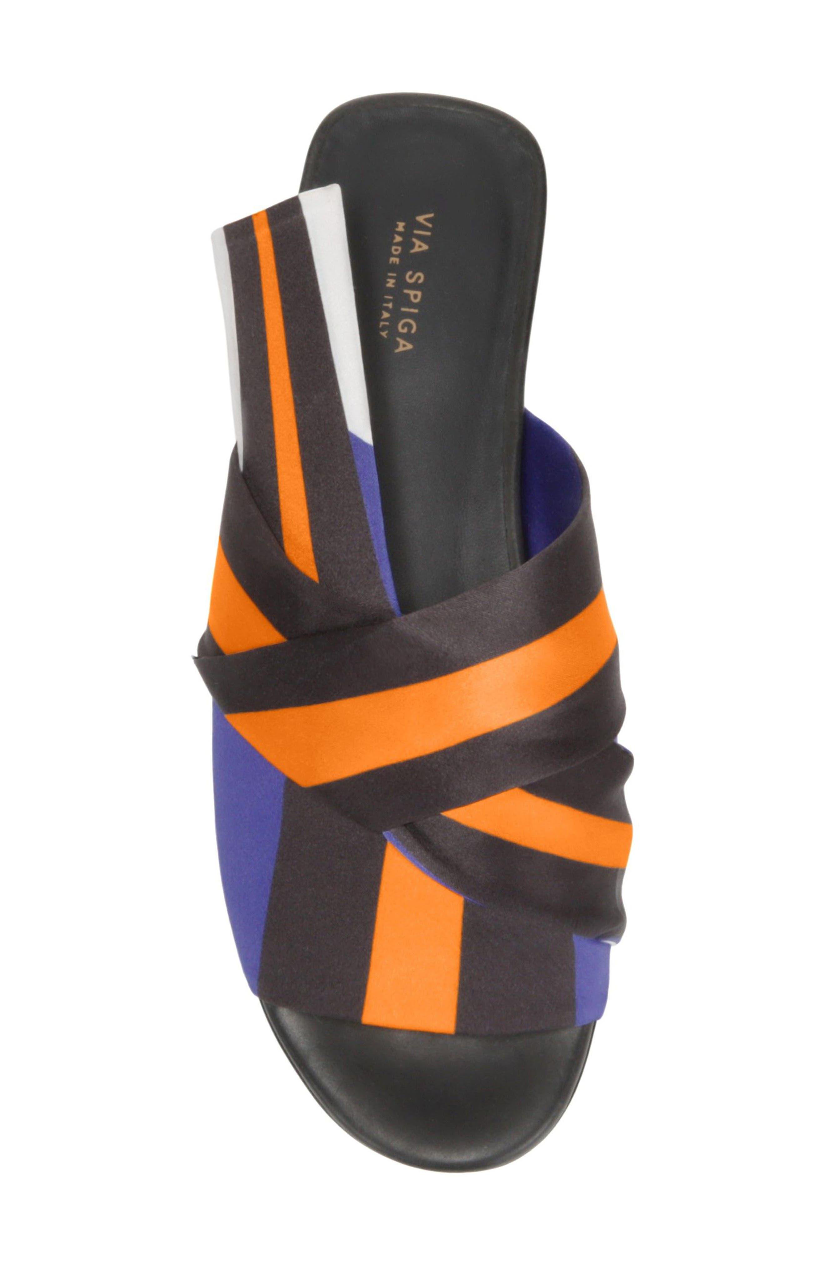 Halina Slide Sandal,                             Alternate thumbnail 5, color,                             Sapphire/ Wine Fabric