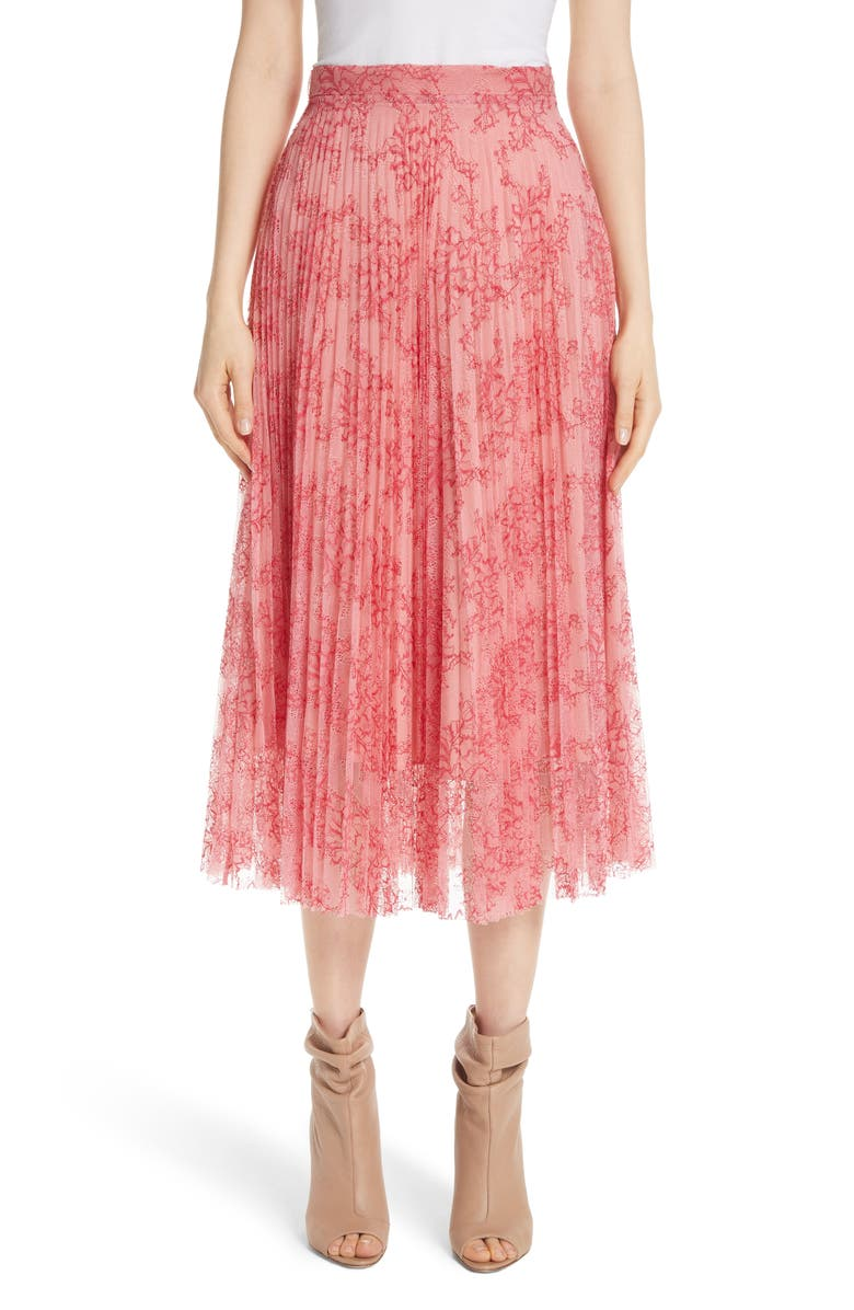 Wilton Pleated Lace Skirt