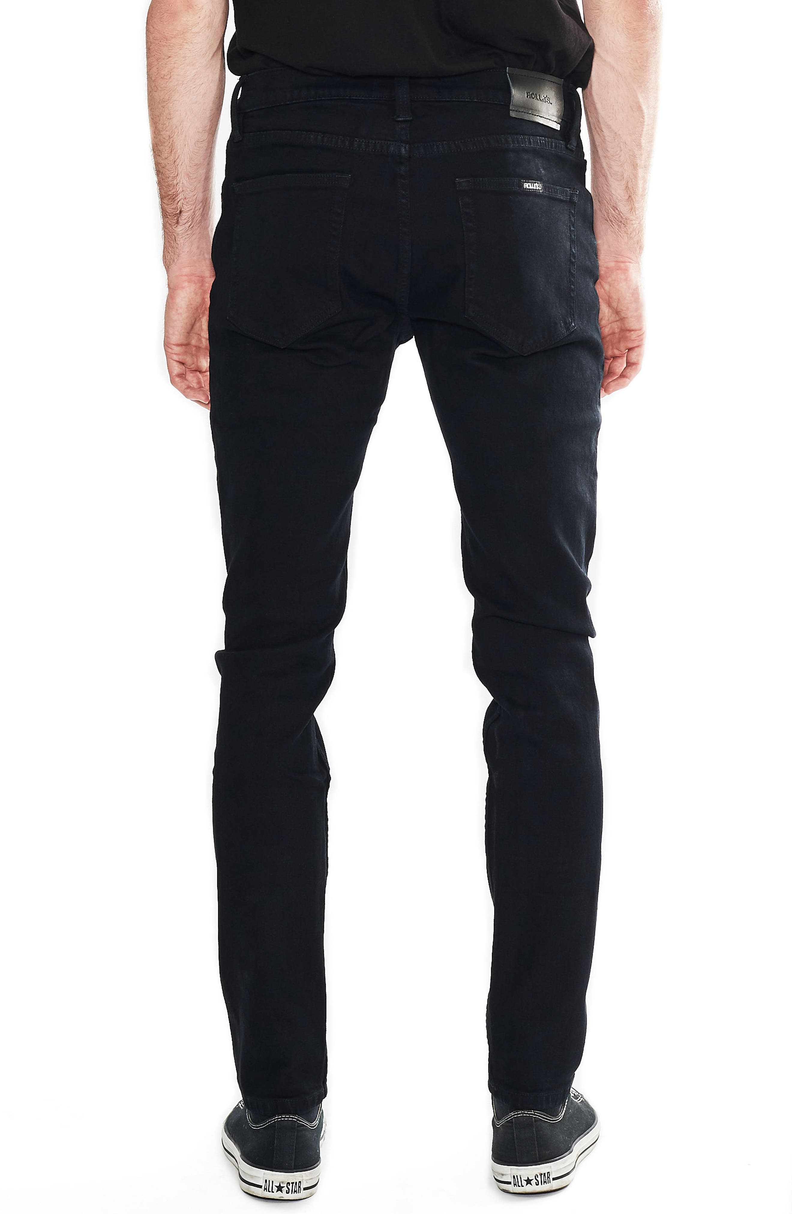 Thin Captain Slim Fit Jeans,                             Alternate thumbnail 2, color,                             Bon Black