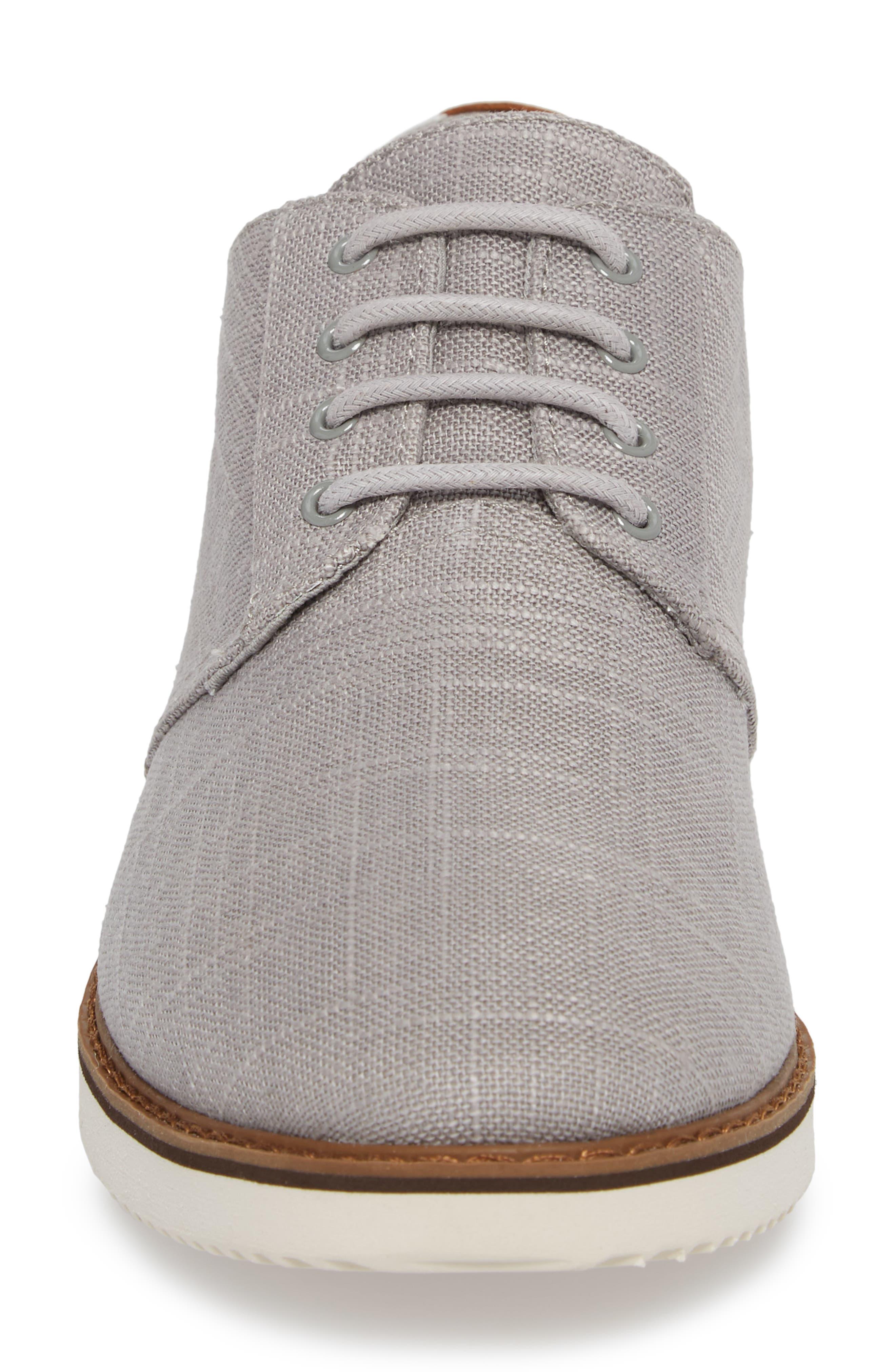 Preston Plain Toe Derby,                             Alternate thumbnail 4, color,                             Grey Linen