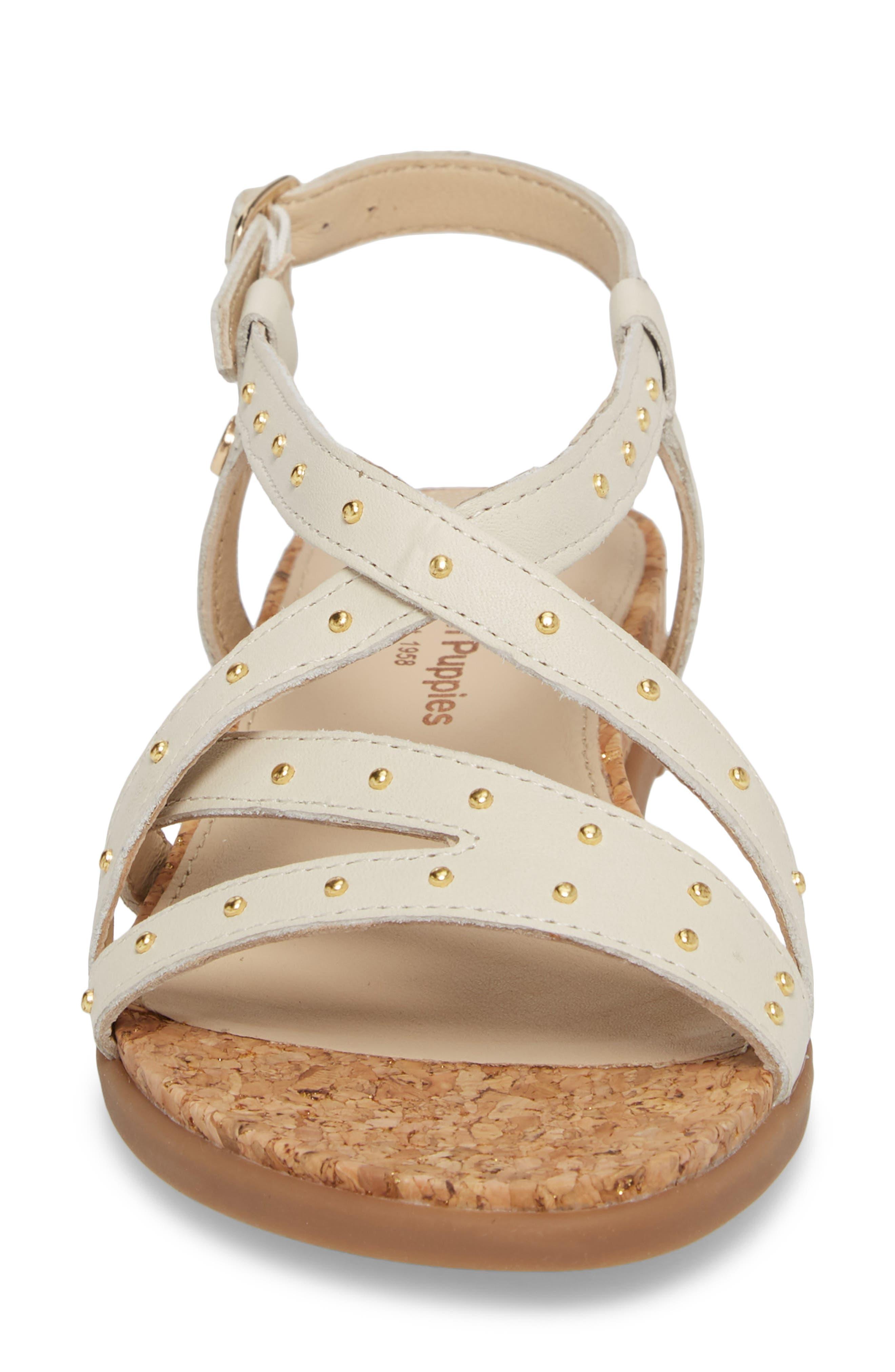 Dalmatian Studded Sandal,                             Alternate thumbnail 4, color,                             Ivory Leather