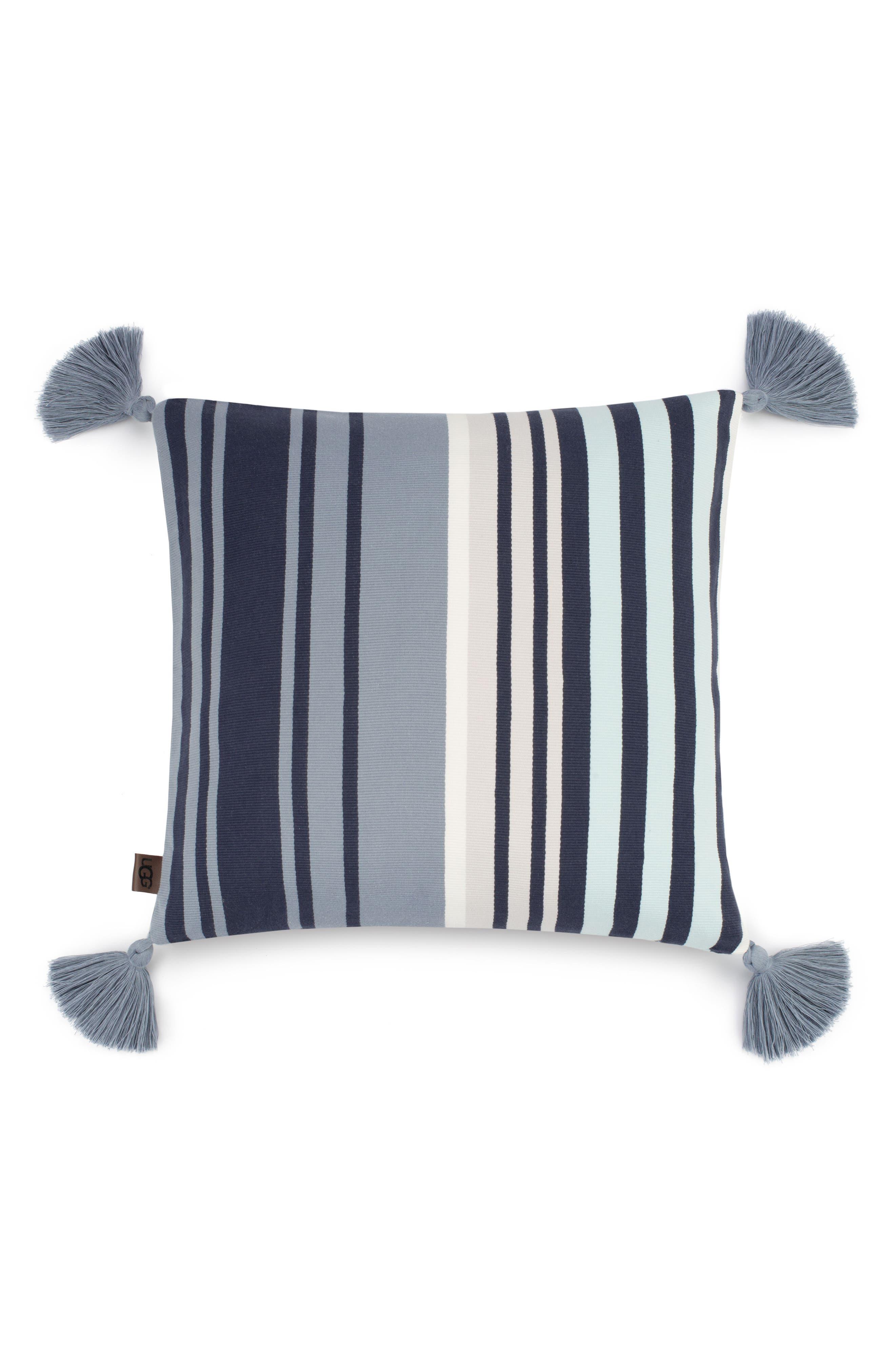 Hammond Stripe Pillow,                         Main,                         color, Blue Multi