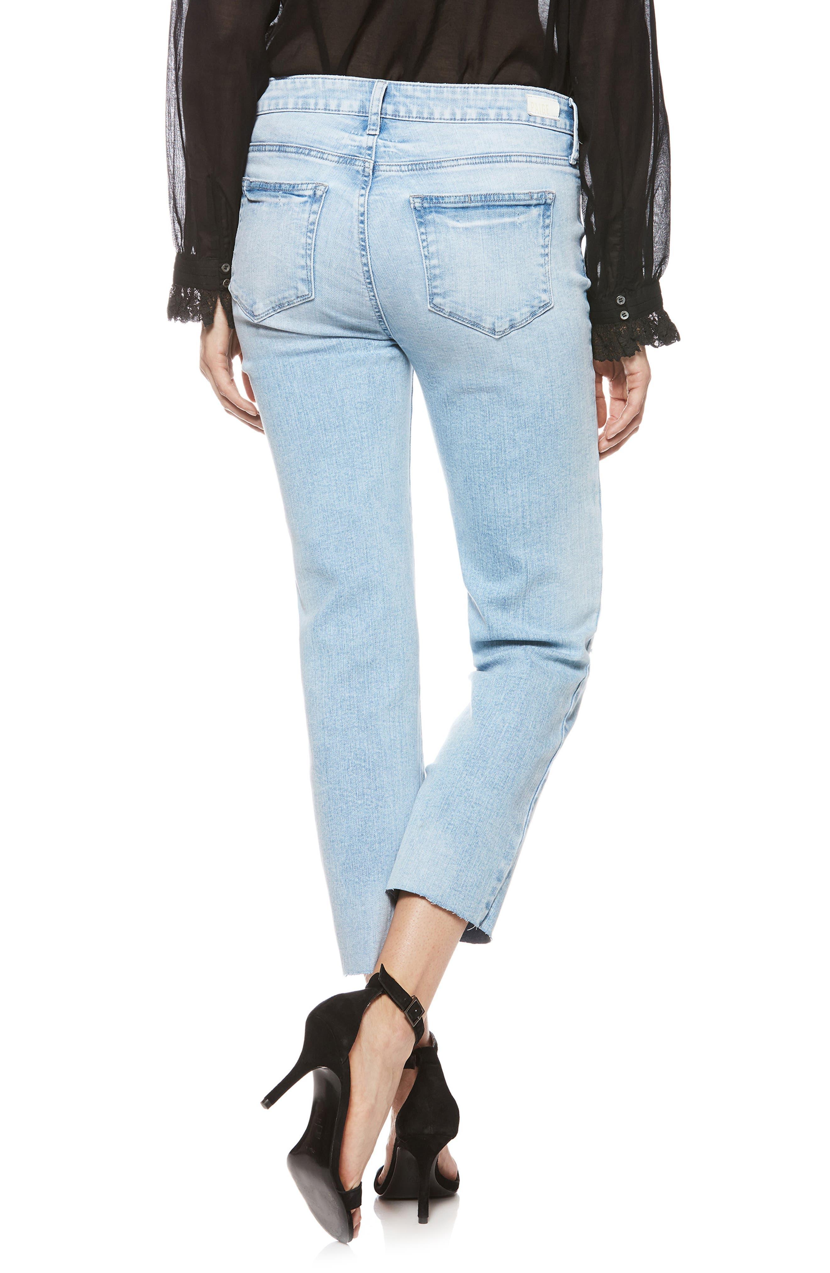 Hoxton High Waist Crop Straight Leg Jeans,                             Alternate thumbnail 2, color,                             Pasadena W/ Wash Crease