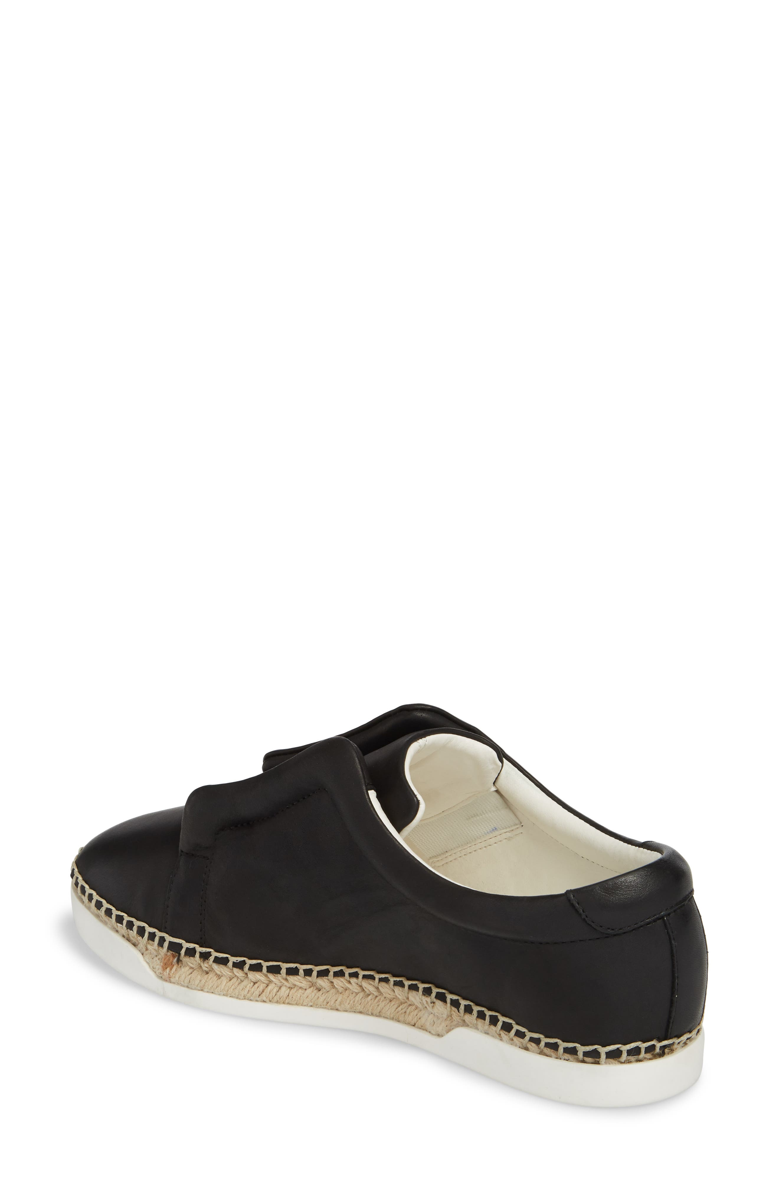 M4D3 Elizabeth Espadrille Slip-On Sneaker,                             Alternate thumbnail 2, color,                             Black Leather