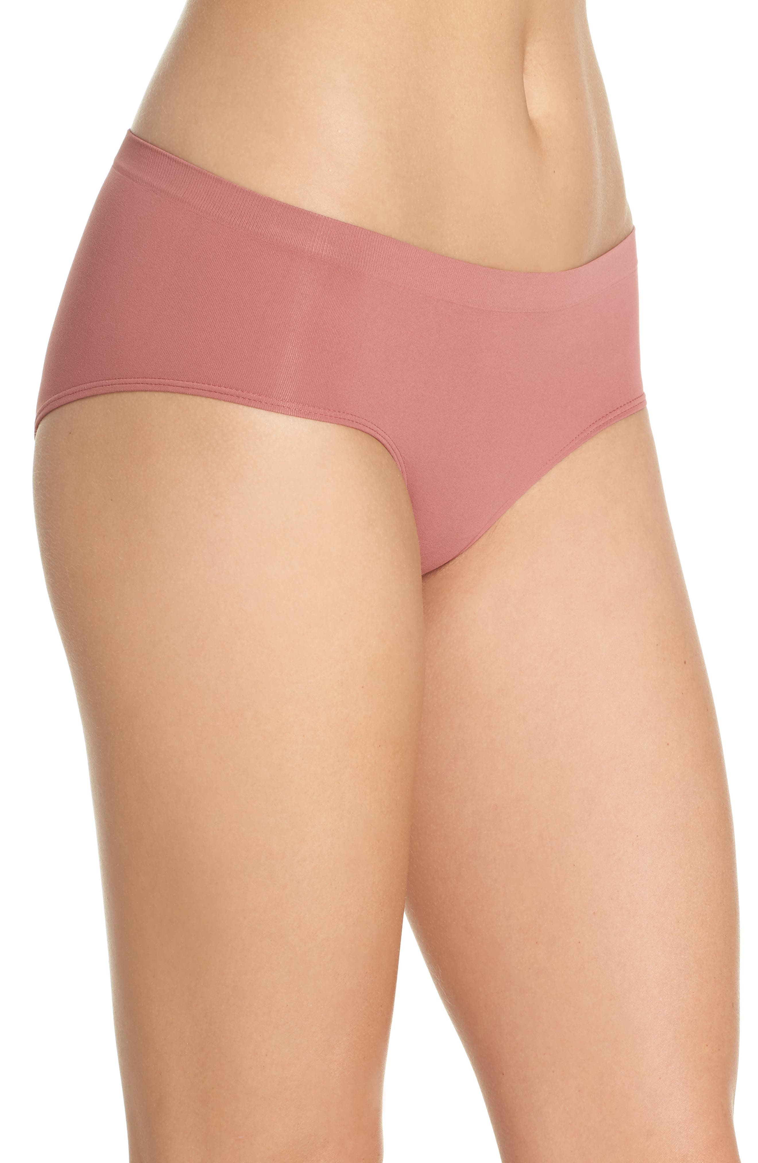 Seamless Hipster Briefs,                             Alternate thumbnail 3, color,                             Pink Taffy